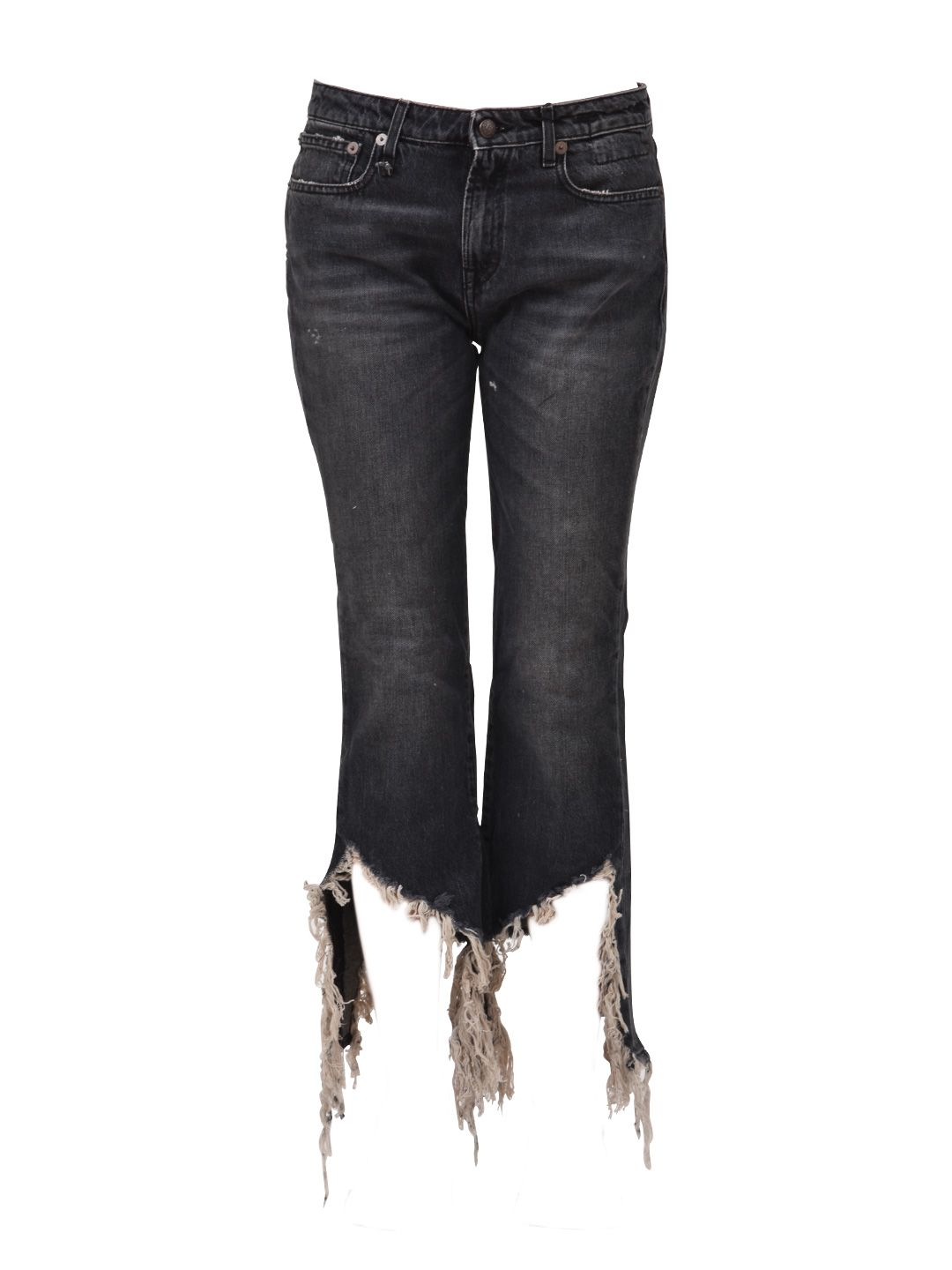 R13 Frayed Hem Kick Fit Jean