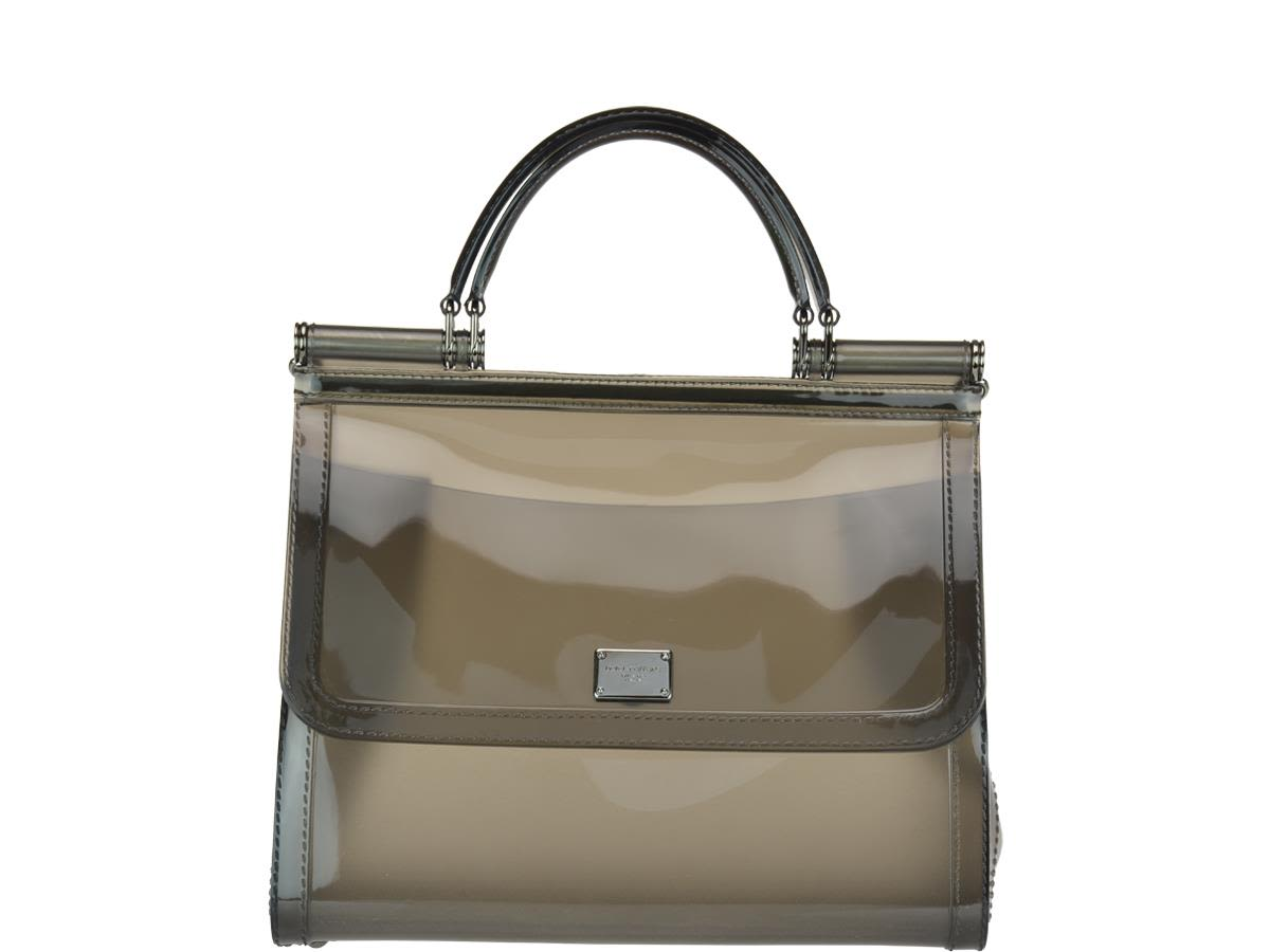 dolce & gabbana -  Semi-transparent Rubber Sicily Handbag