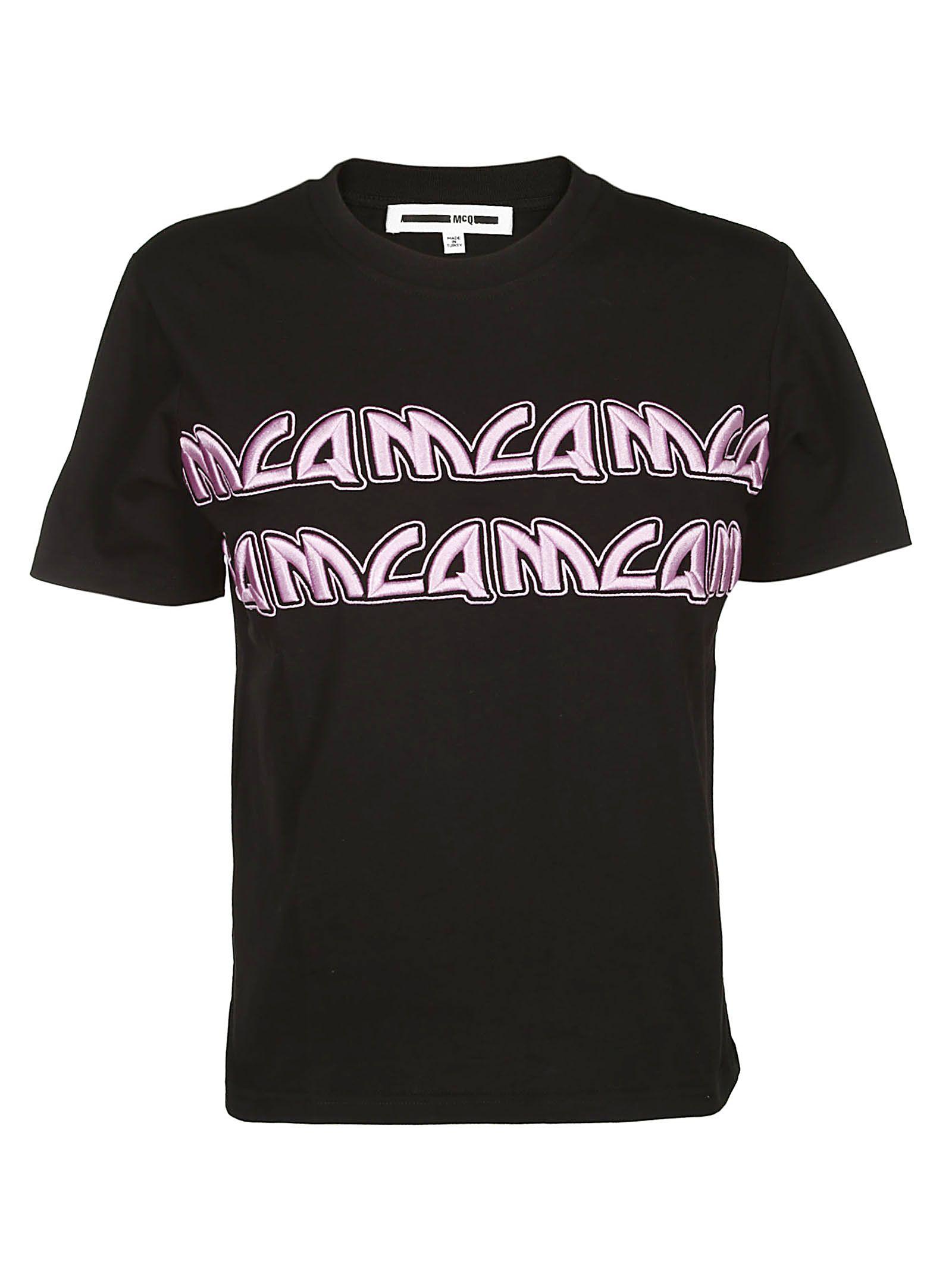 Mcq Alexander Mcqueen Embroidered Logo T-shirt