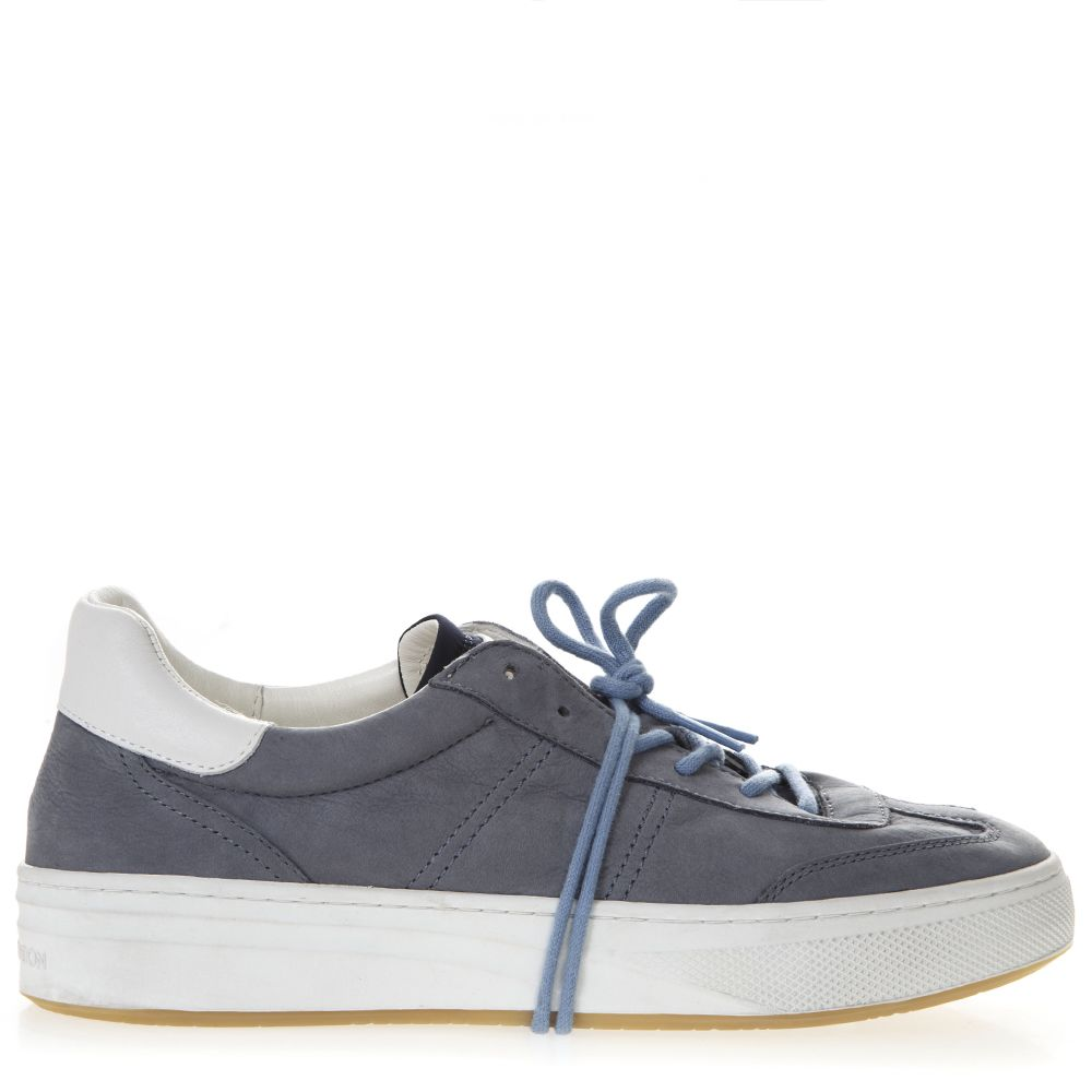 Crime london Grey Leather Sneakers