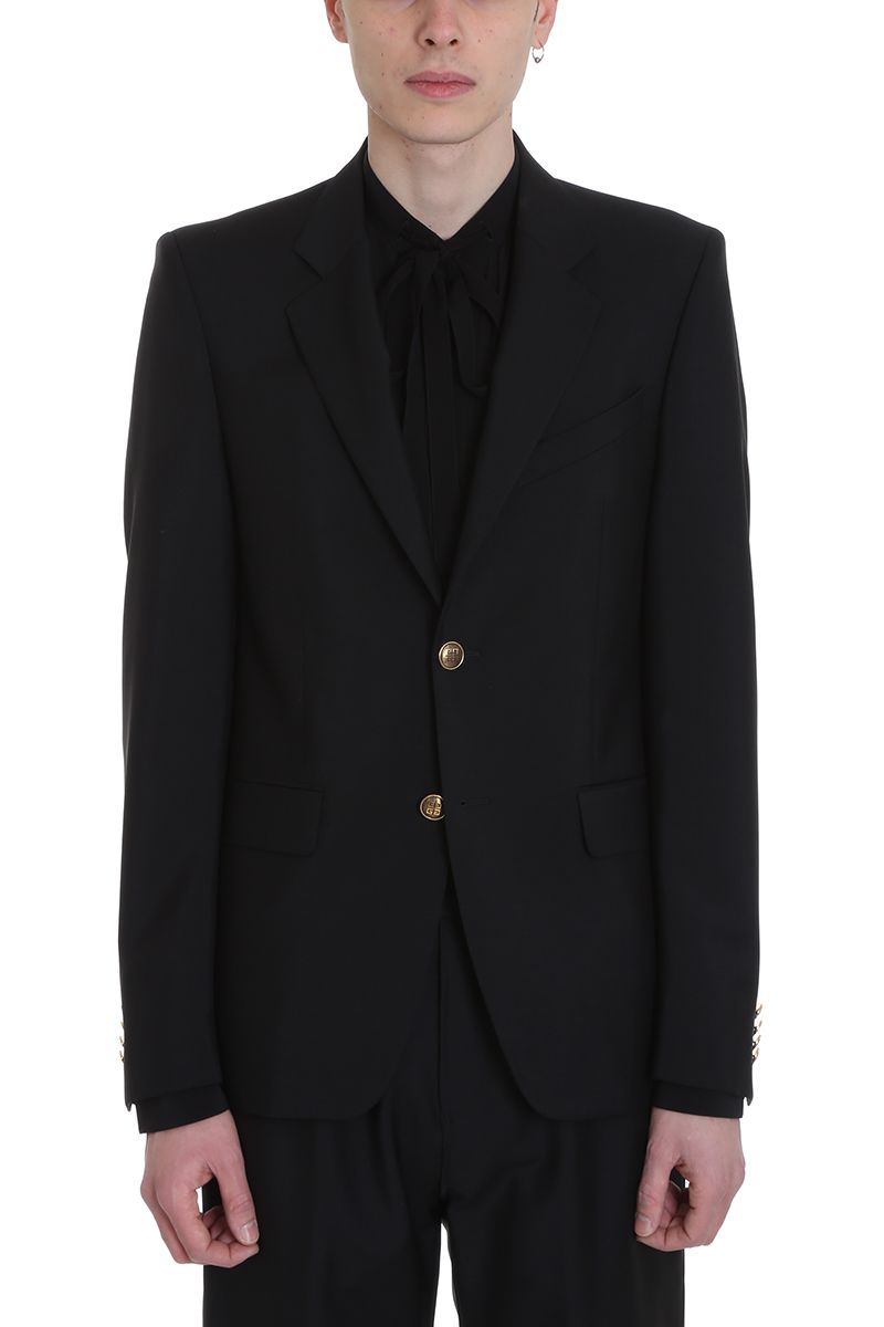 Givenchy Black Wool Blazer