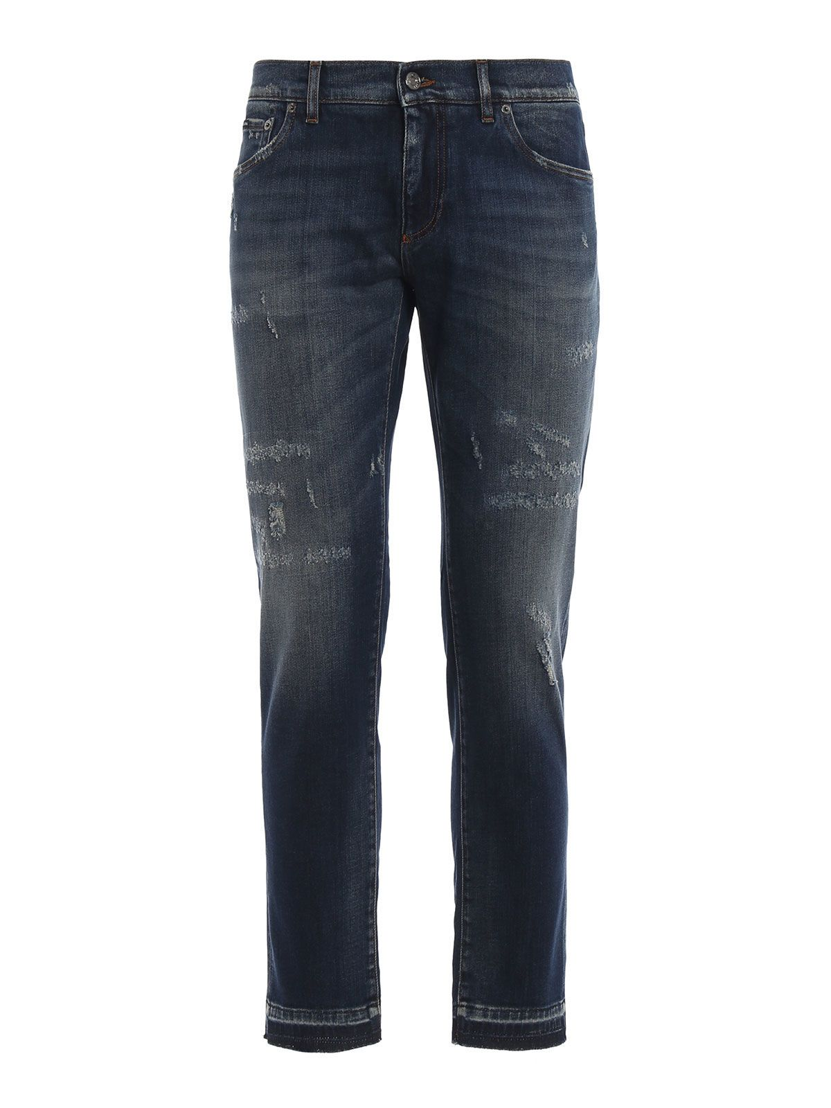 Dolce & Gabbana Stone-washed Slim Fit Jeans