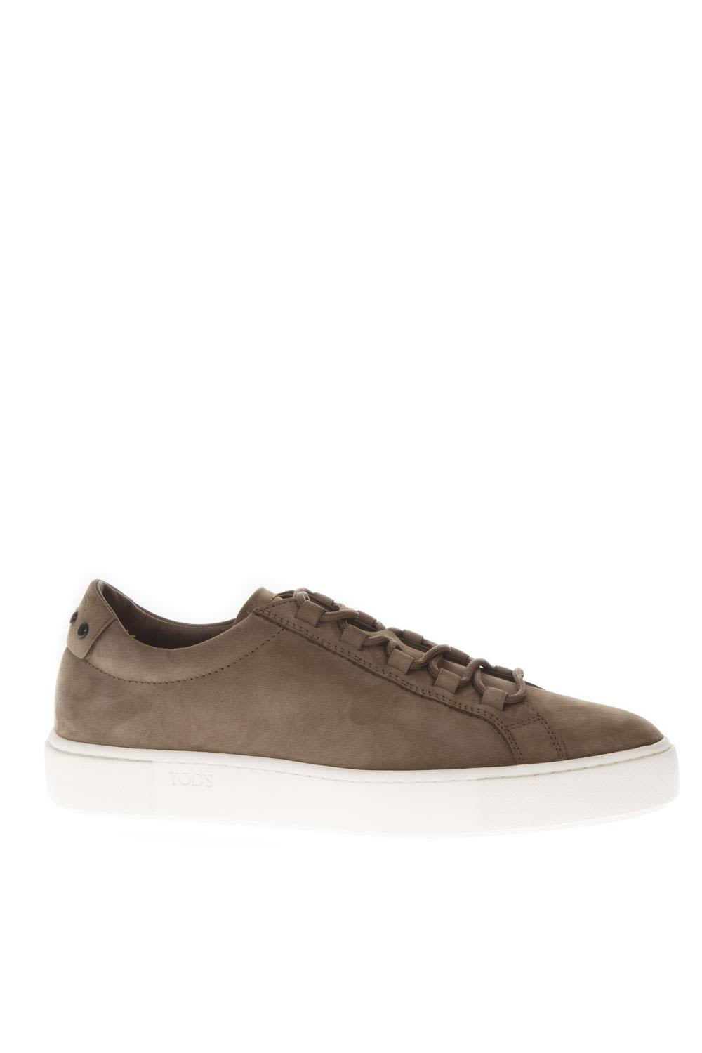Tod's Nut Color Nabuk Sneakers