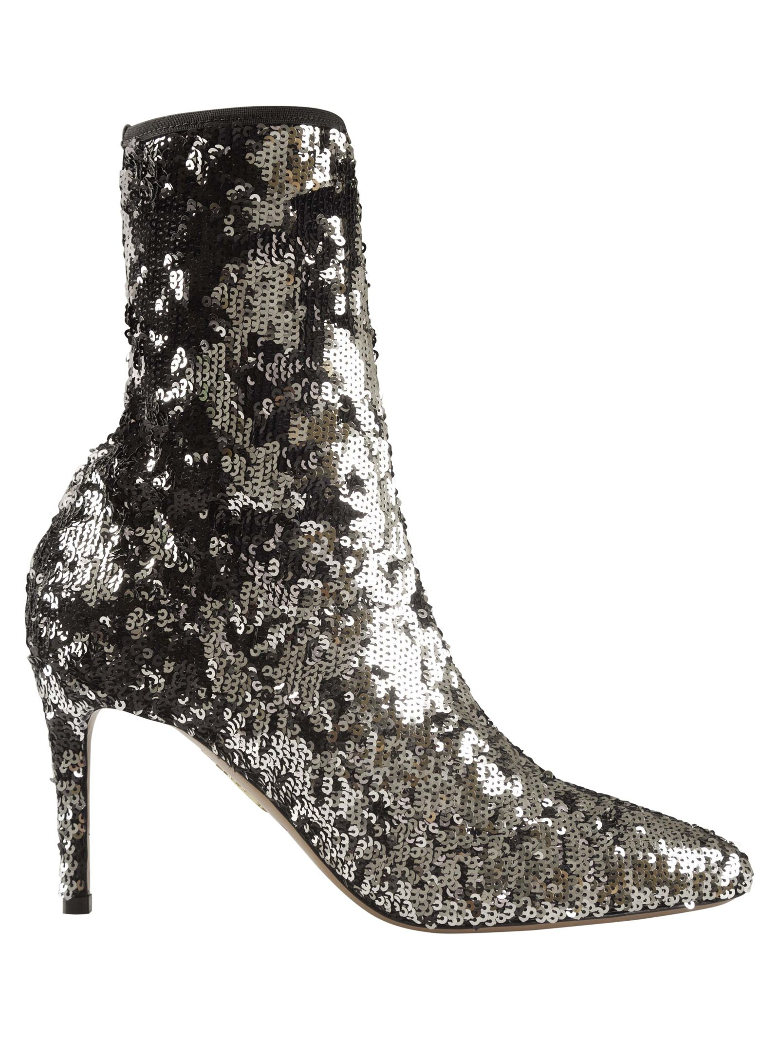 Aquazzura Sequin Embellished Ankle Boots