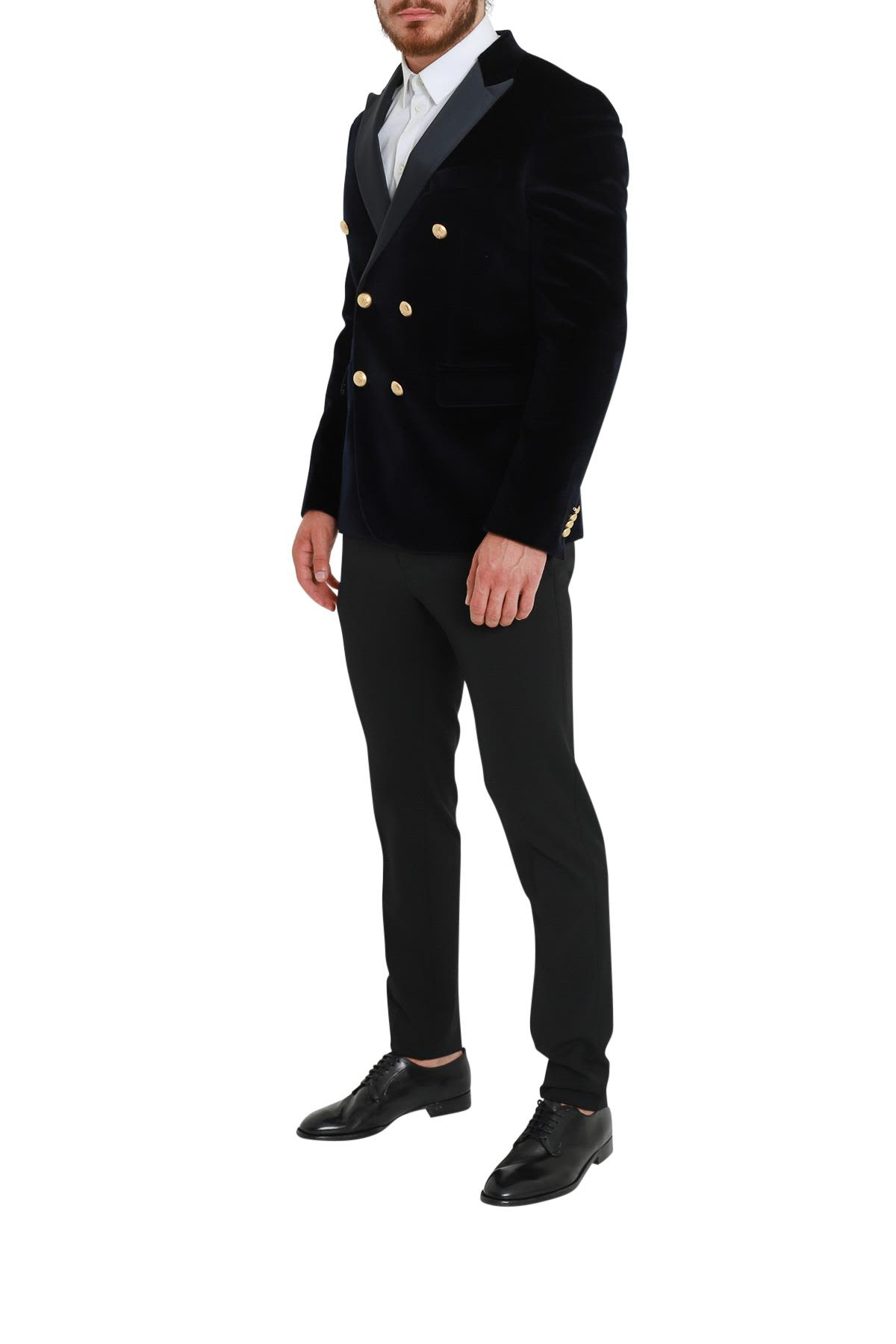 Brian Dales Velvet Double-breasted Jacket With Satin Neck