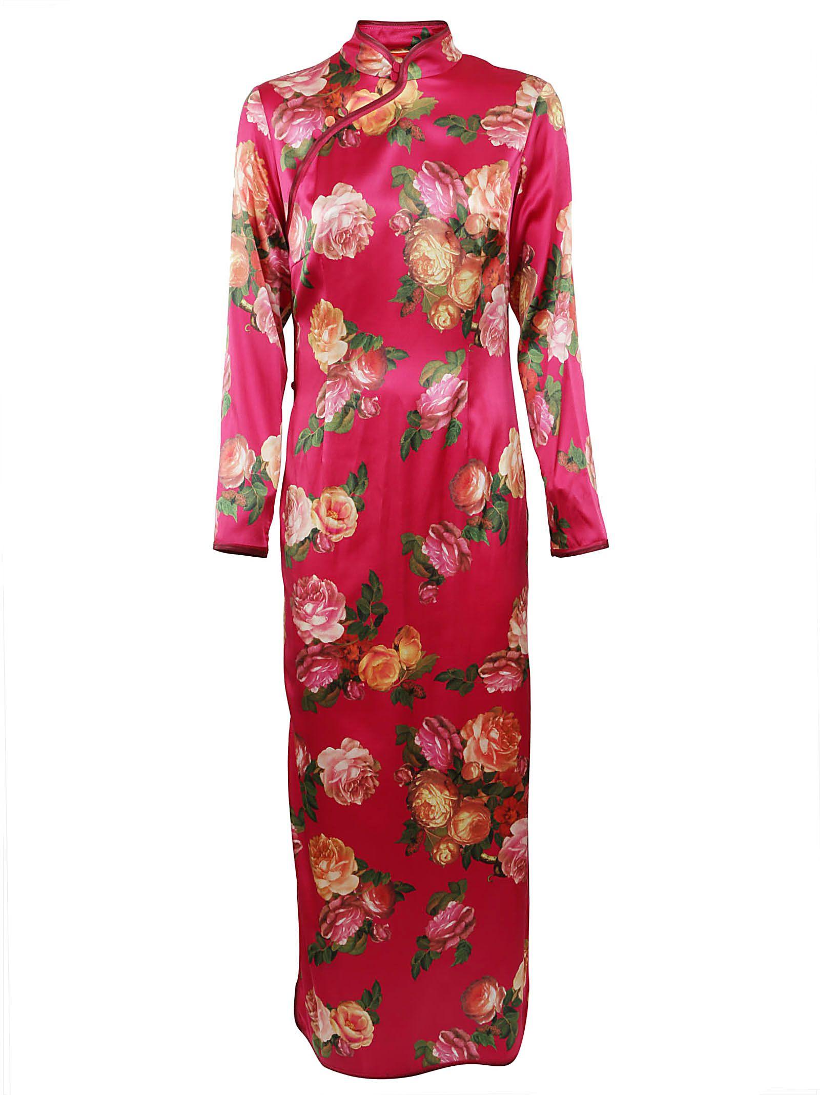 For Restless Sleepers Rose Print Shift Dress