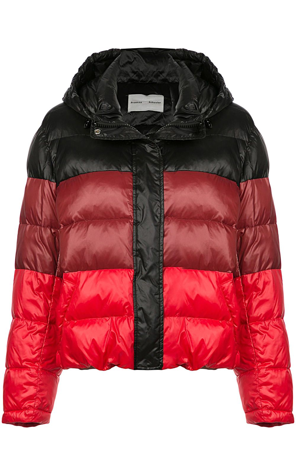 proenza schouler -  Striped Nylon Hooded Puffer Jacket