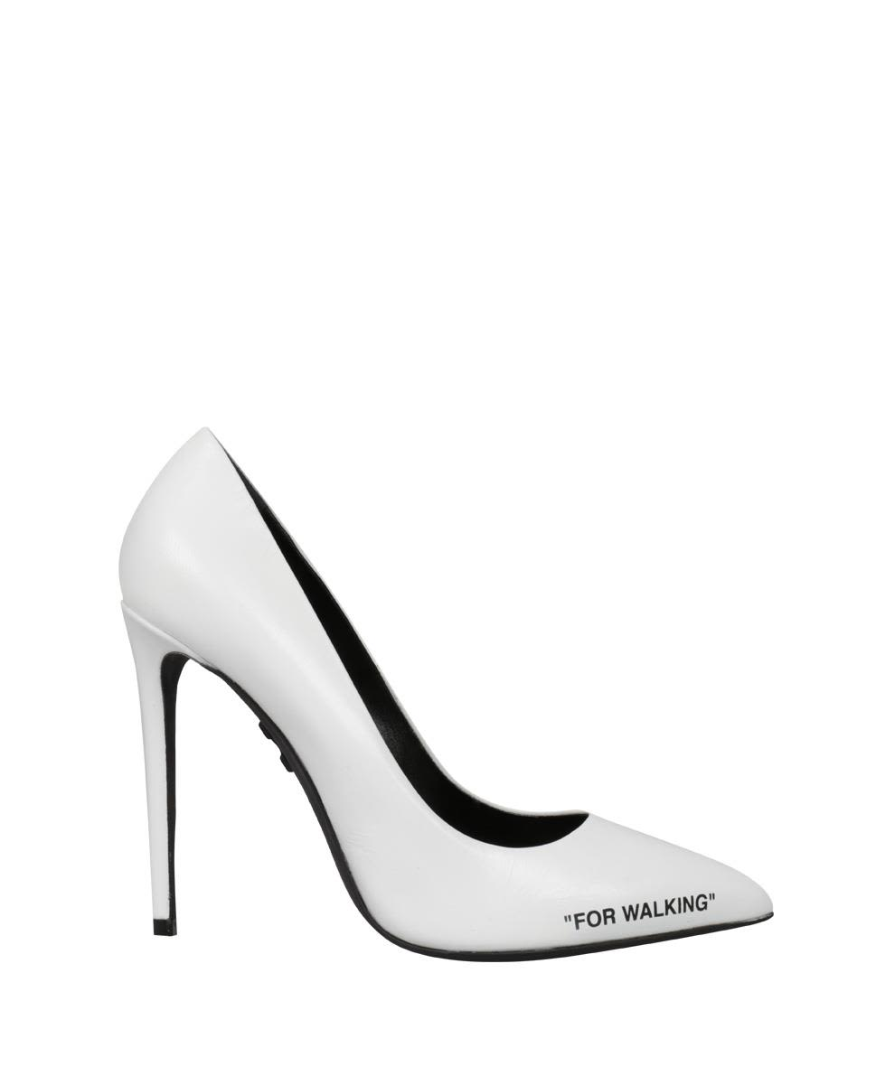 off-white -  Leather Pumps