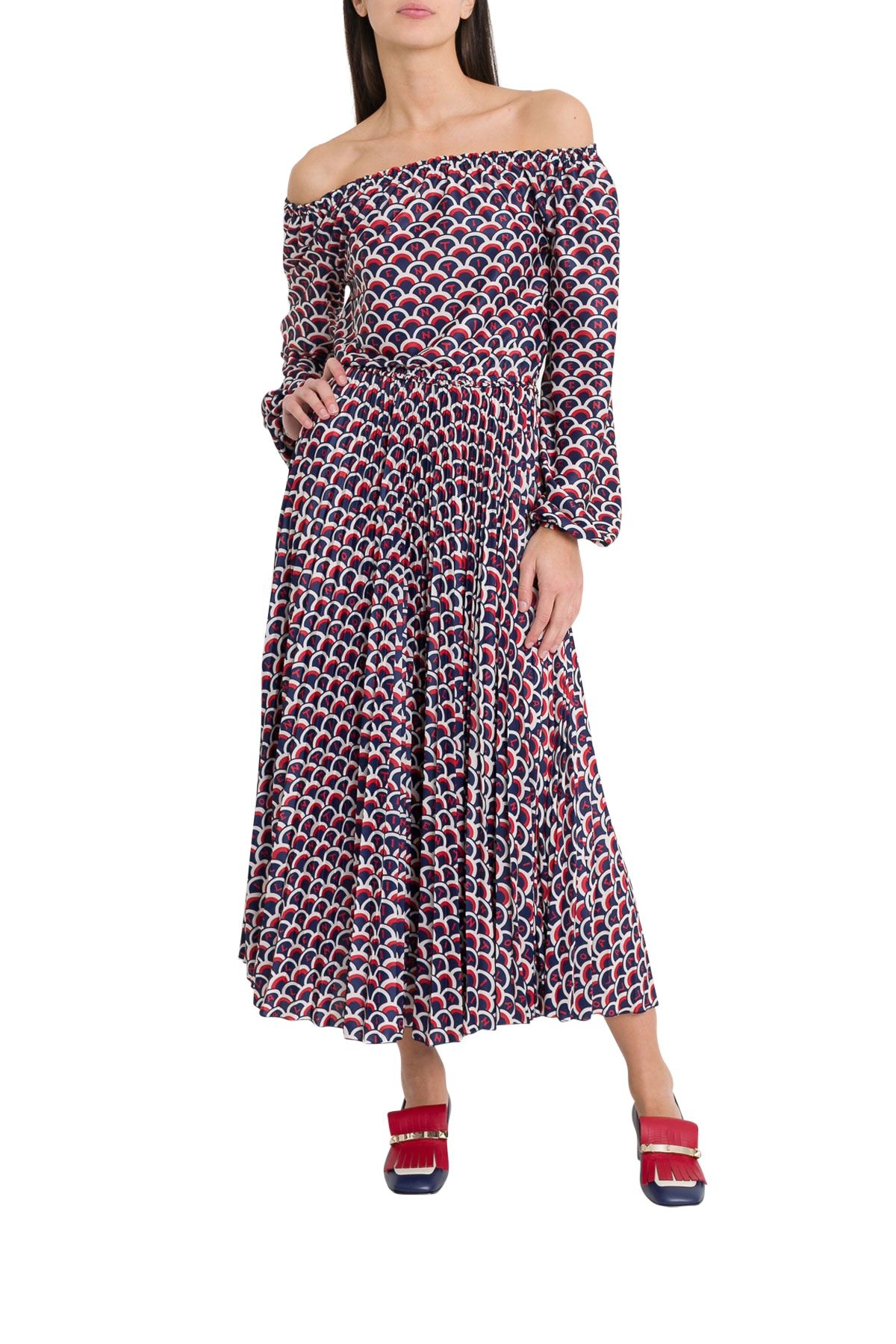 Valentino All-over Lettering Logn Dress