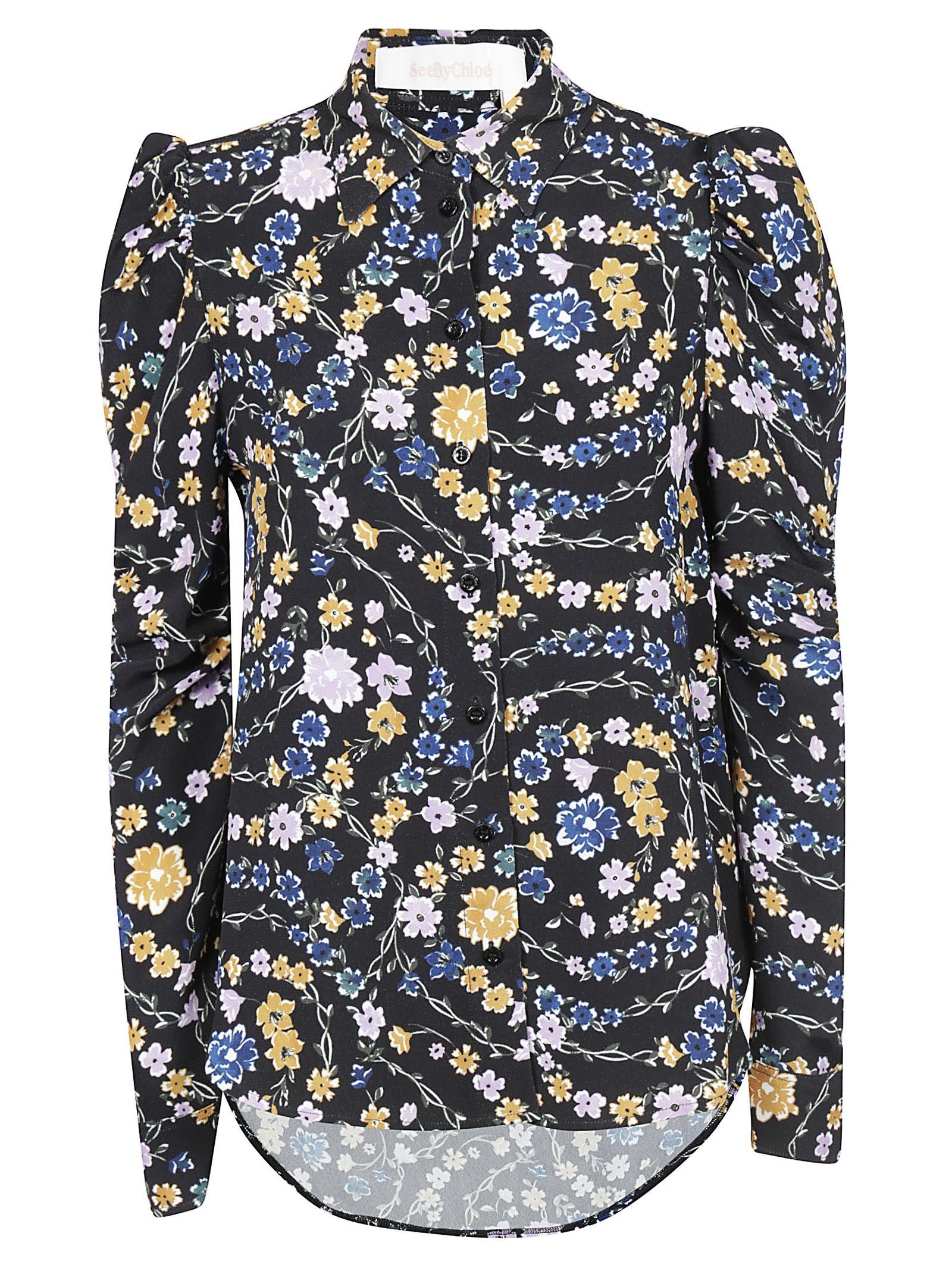 See By Chloé Floral Print Shirt