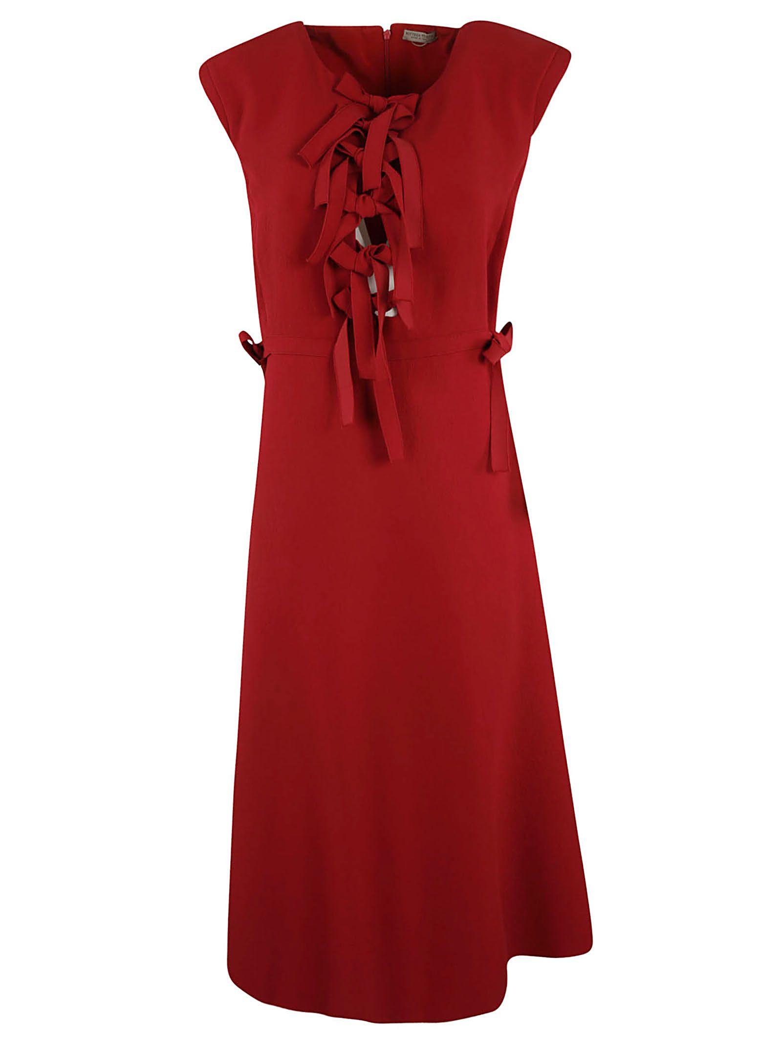 Bottega Veneta Bow Detail Midi Dress