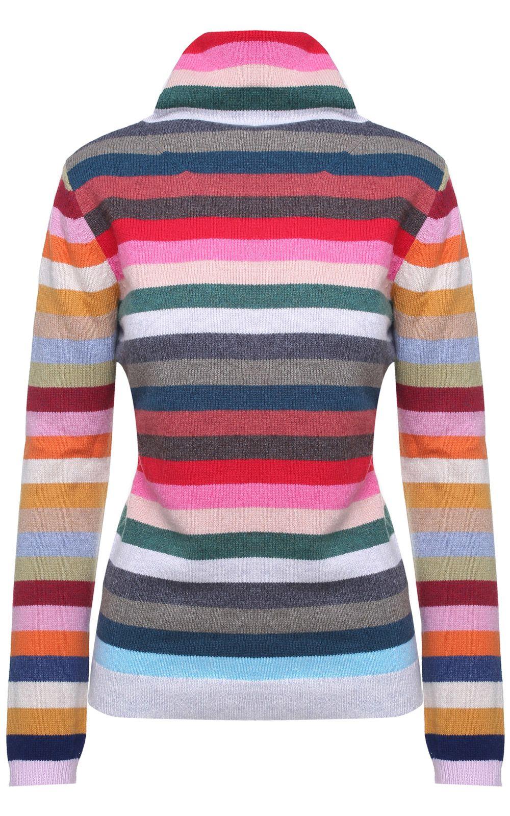 Jardin des Orangers Striped Cotton And Wool-blend Turtleneck Sweater