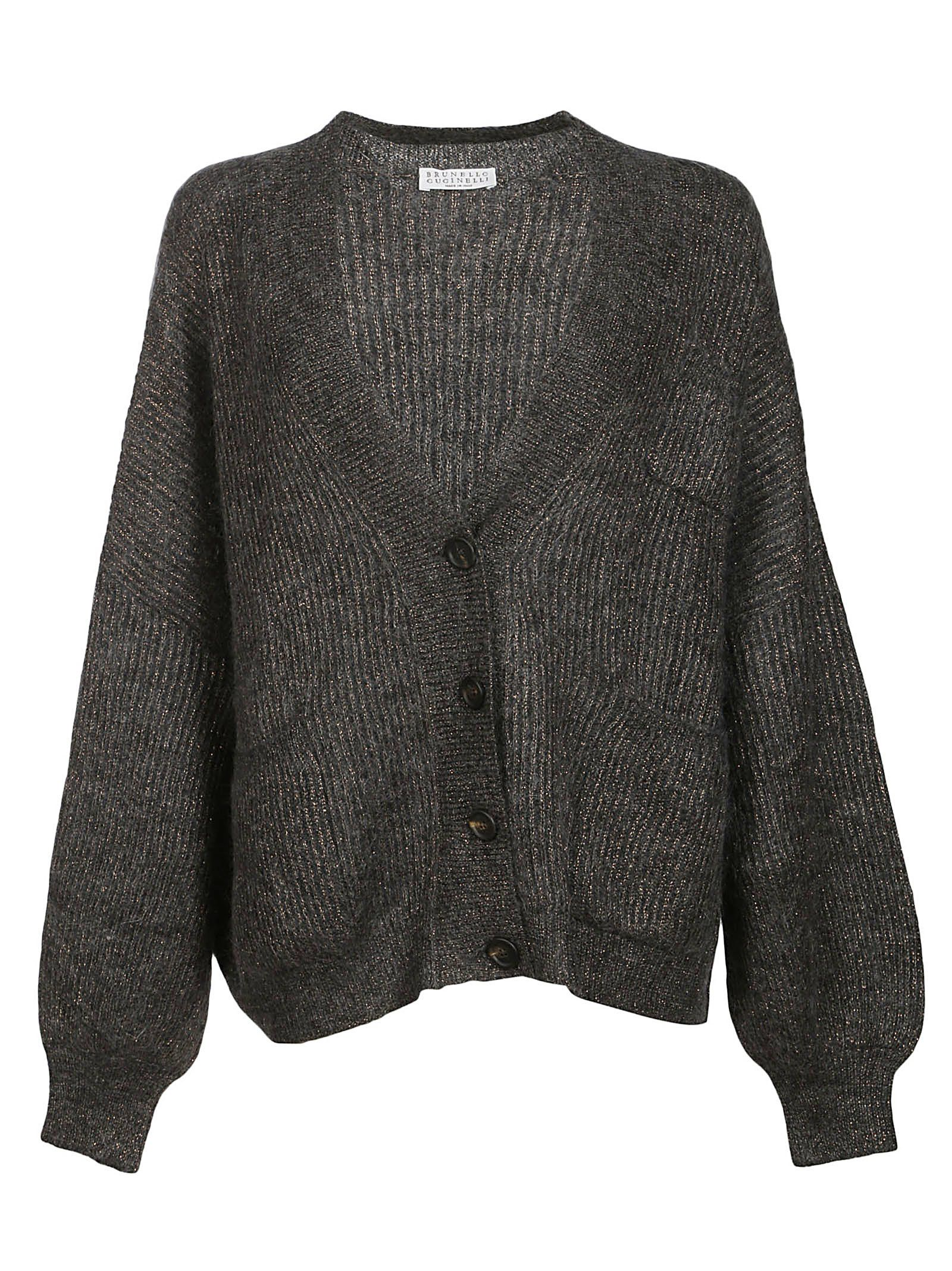 Brunello Cucinelli Lurex Button Cardigan