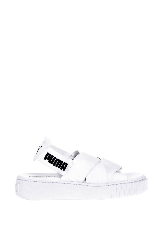 puma select -  White Elastic Straps Sandals