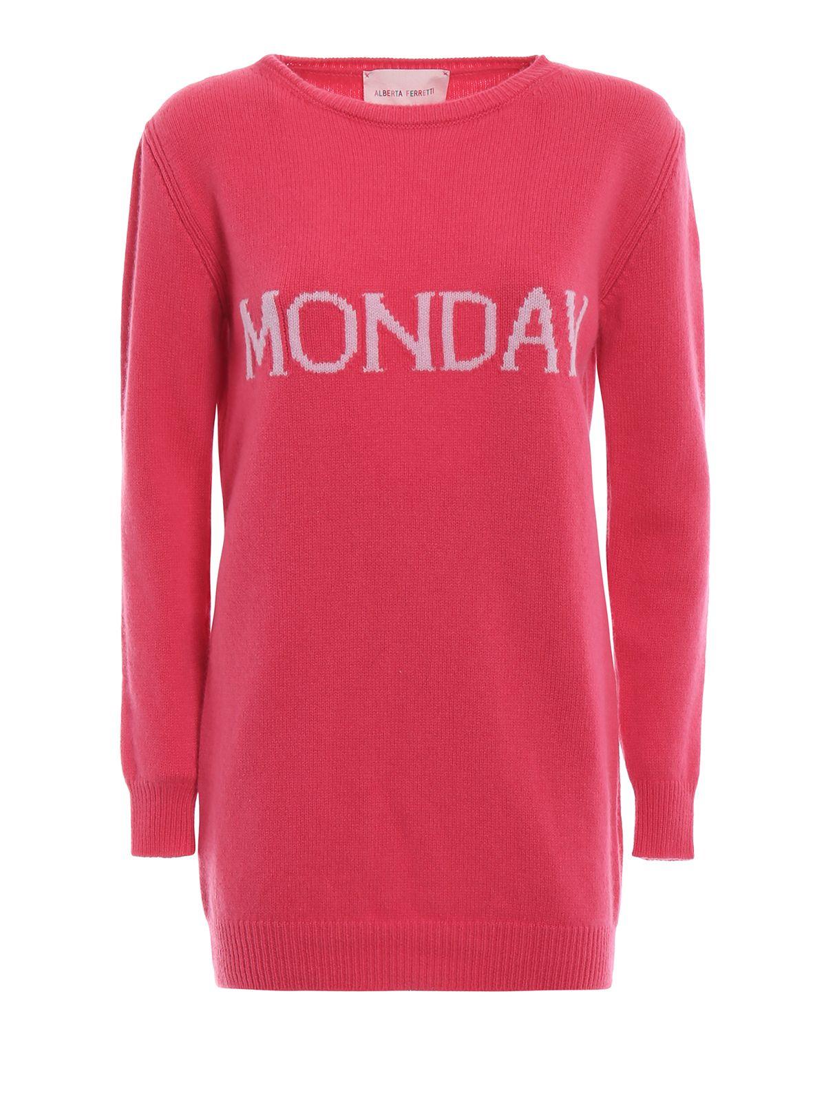 Alberta Ferretti Monday Cashmere And Wool Long Sweater