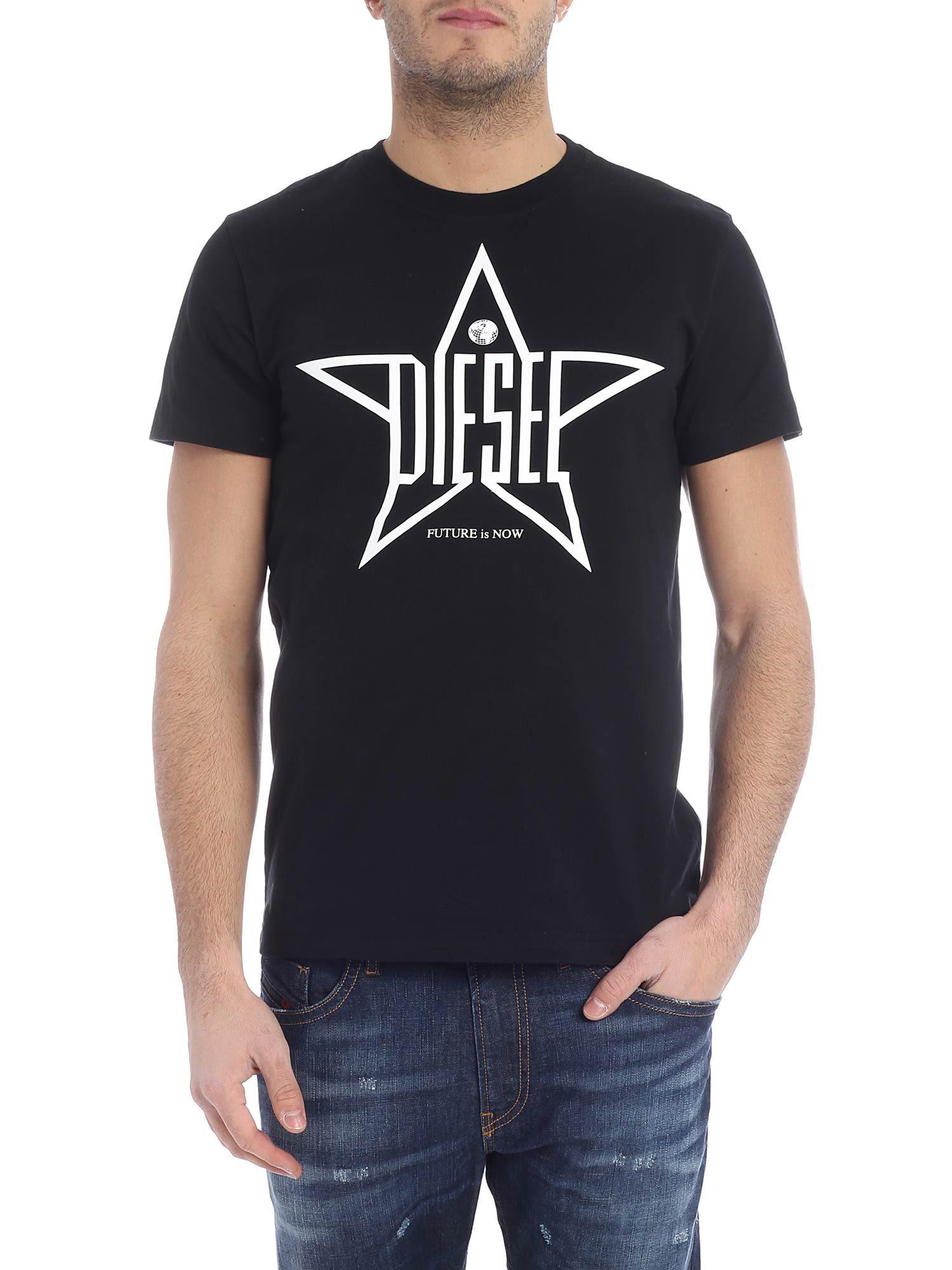 Diesel T-diego Star Print T-shirt