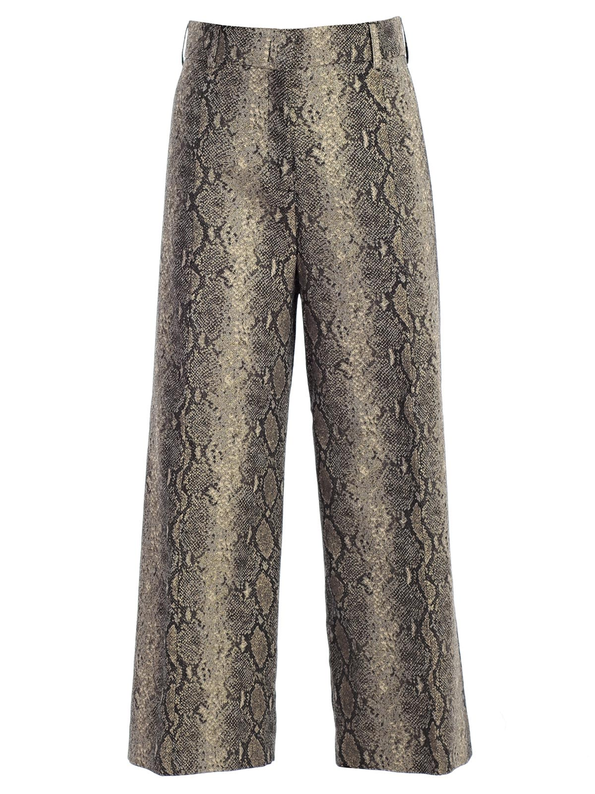 twinset -  Snake Print Cropped Trousers