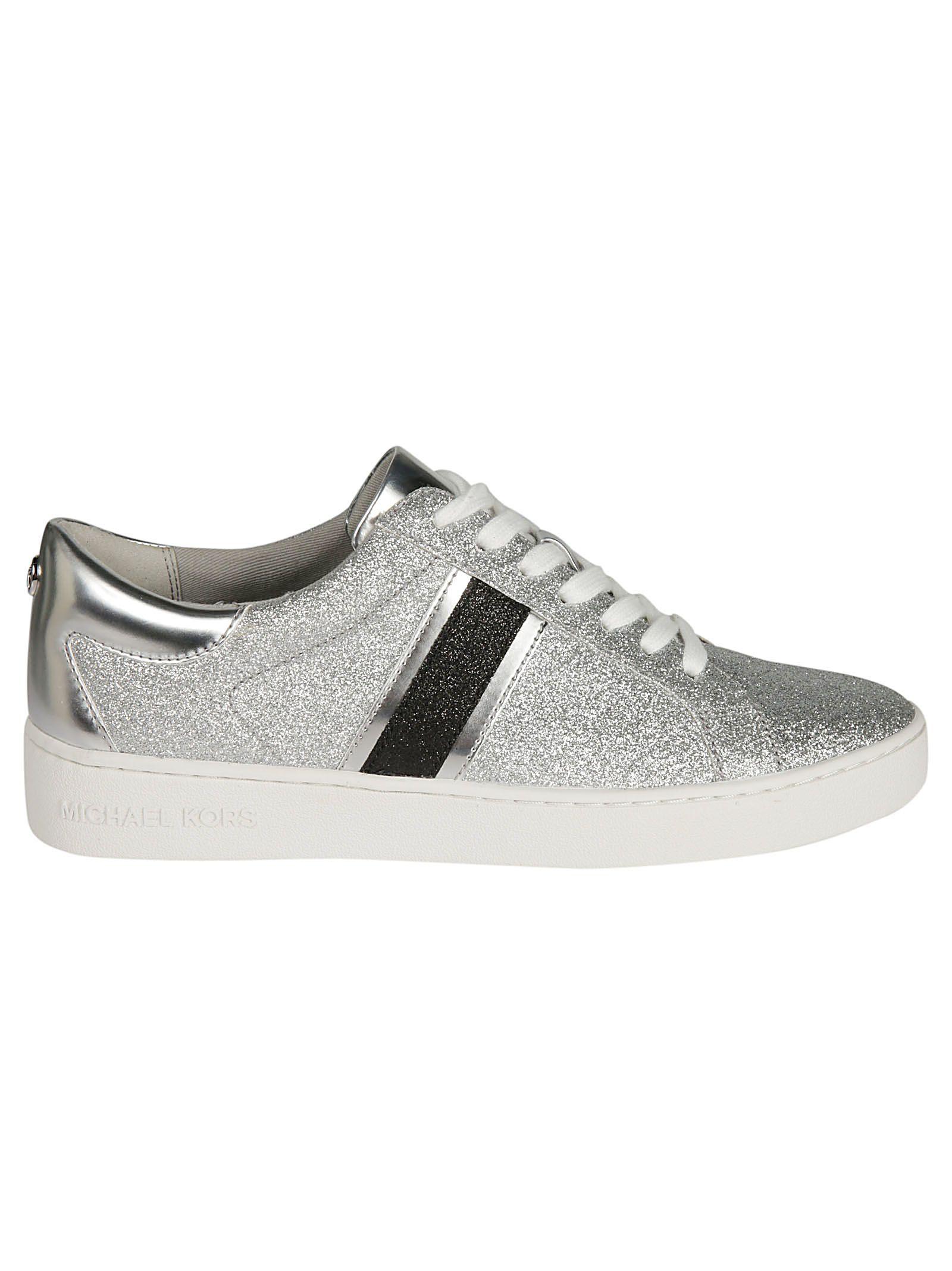 Michael Kors Keaton Striped Glitter Sneakers
