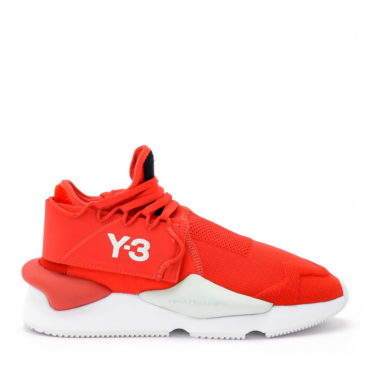 Y-3 Kaiwa Knit Red Fabric Sneaker