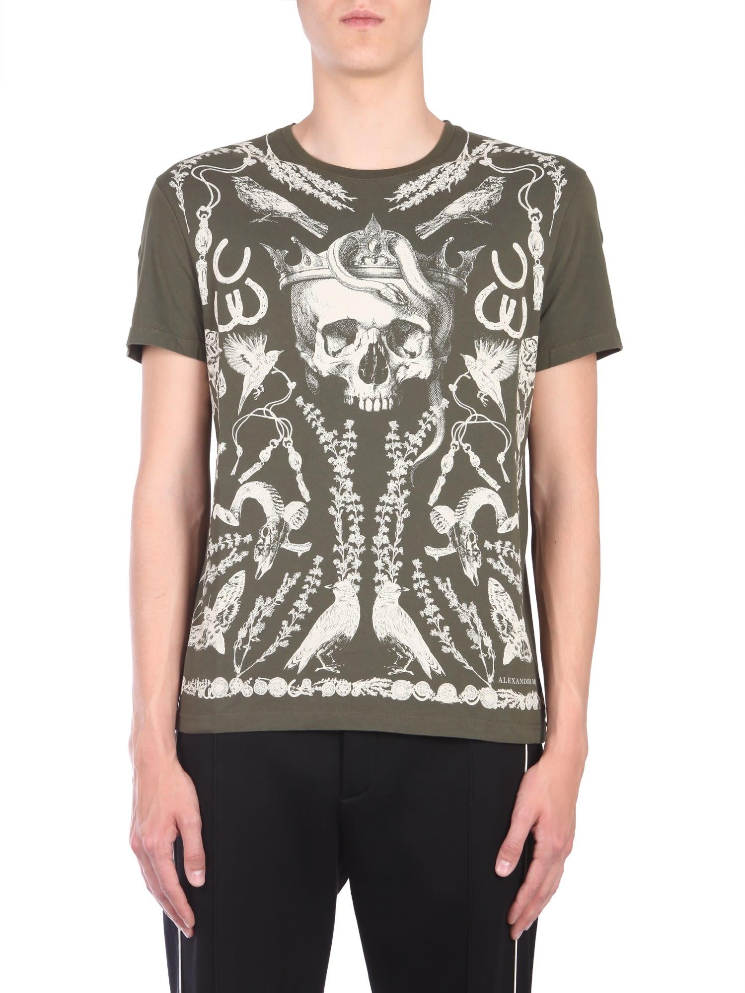 Alexander McQueen T-shirt With Treasure Skull Print