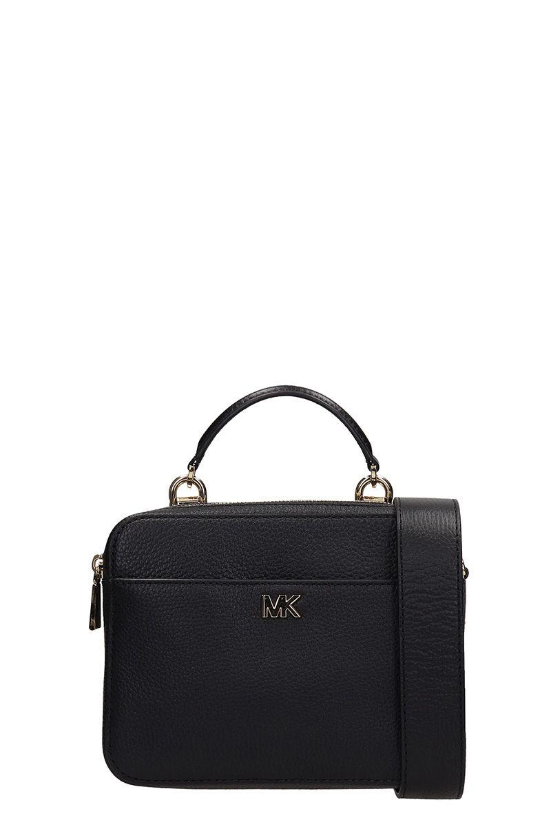 Michael Kors Black Grained Leather Mott Mini Bag