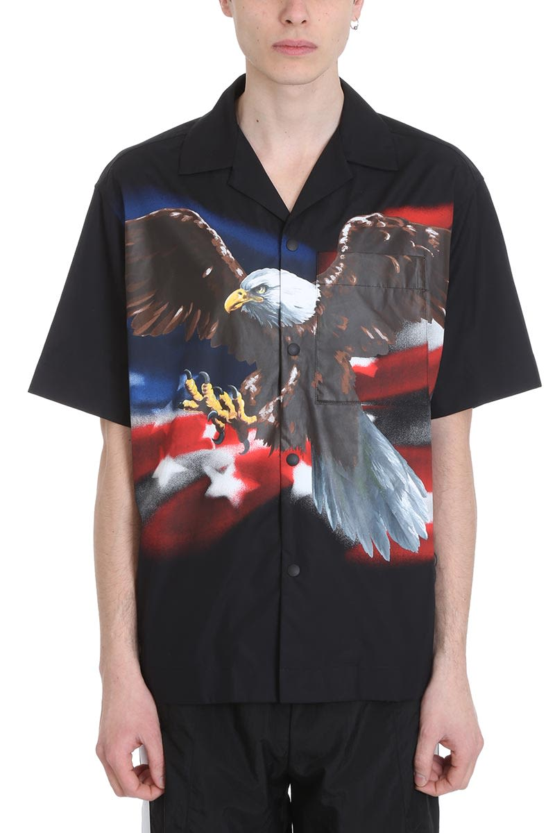Palm Angels Egle Black Cotton Shirt