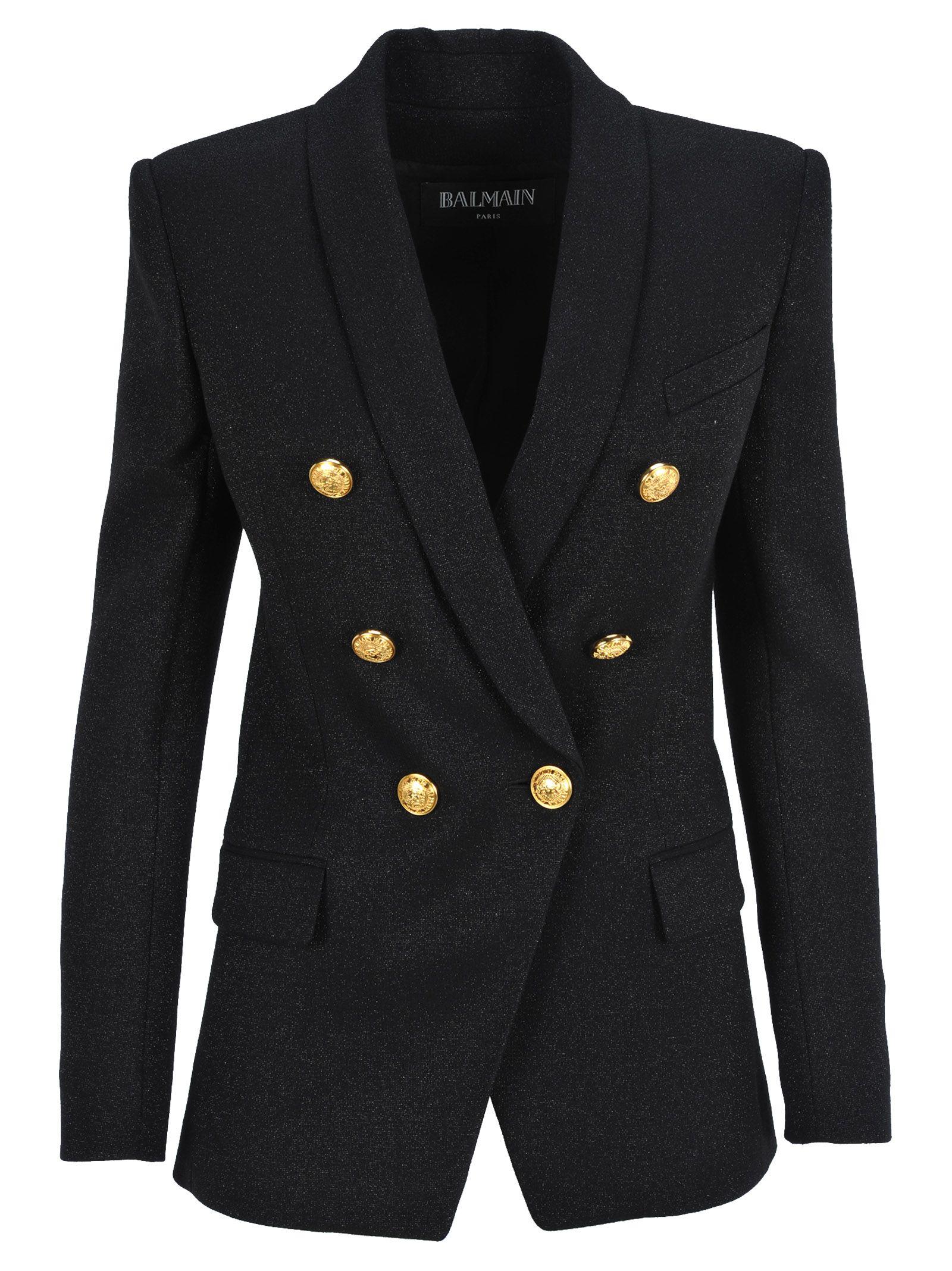 Balmain 6 Buttons Glitter Jacket