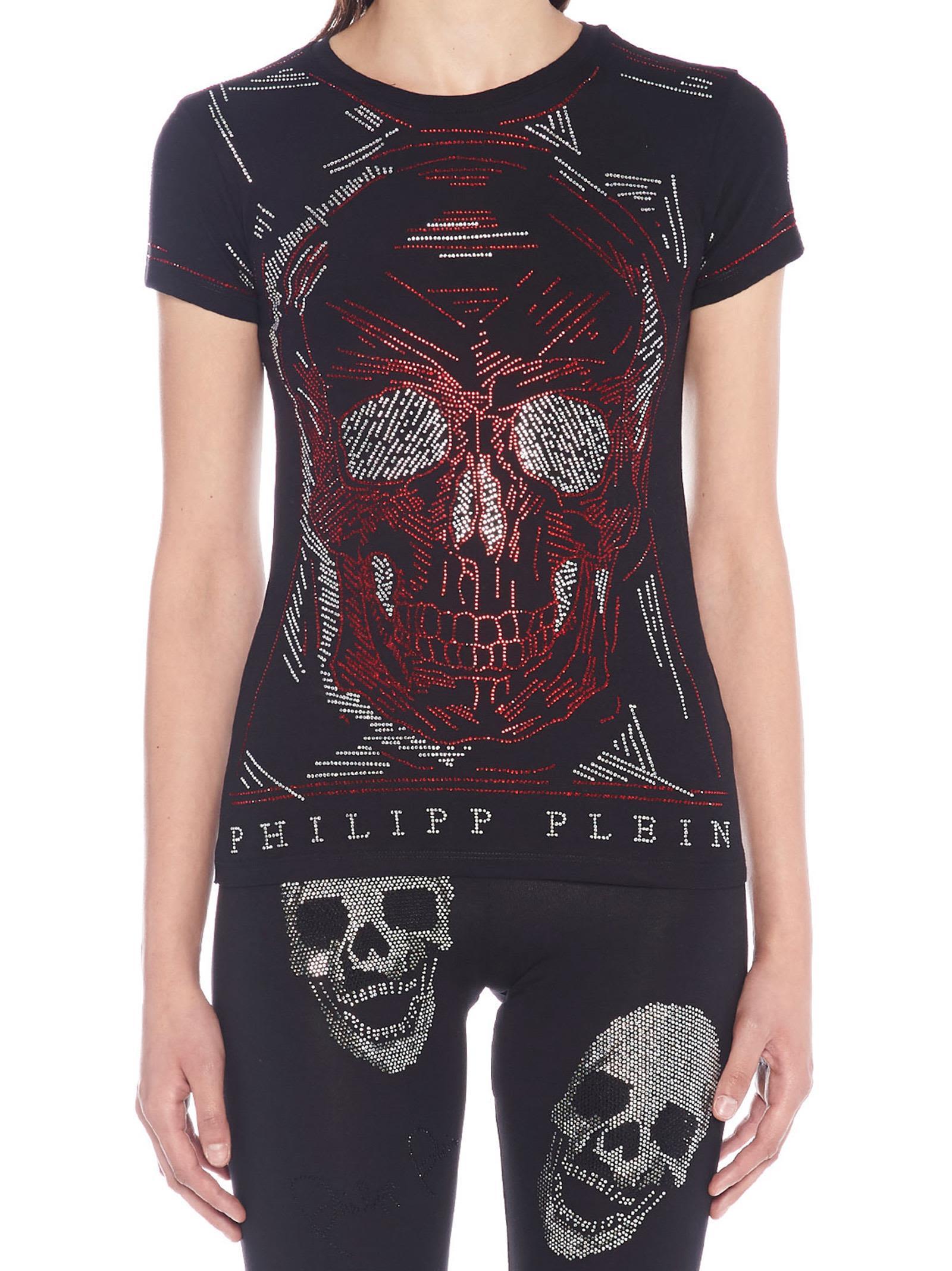 Philipp Plein 'line Skull' T-shirt