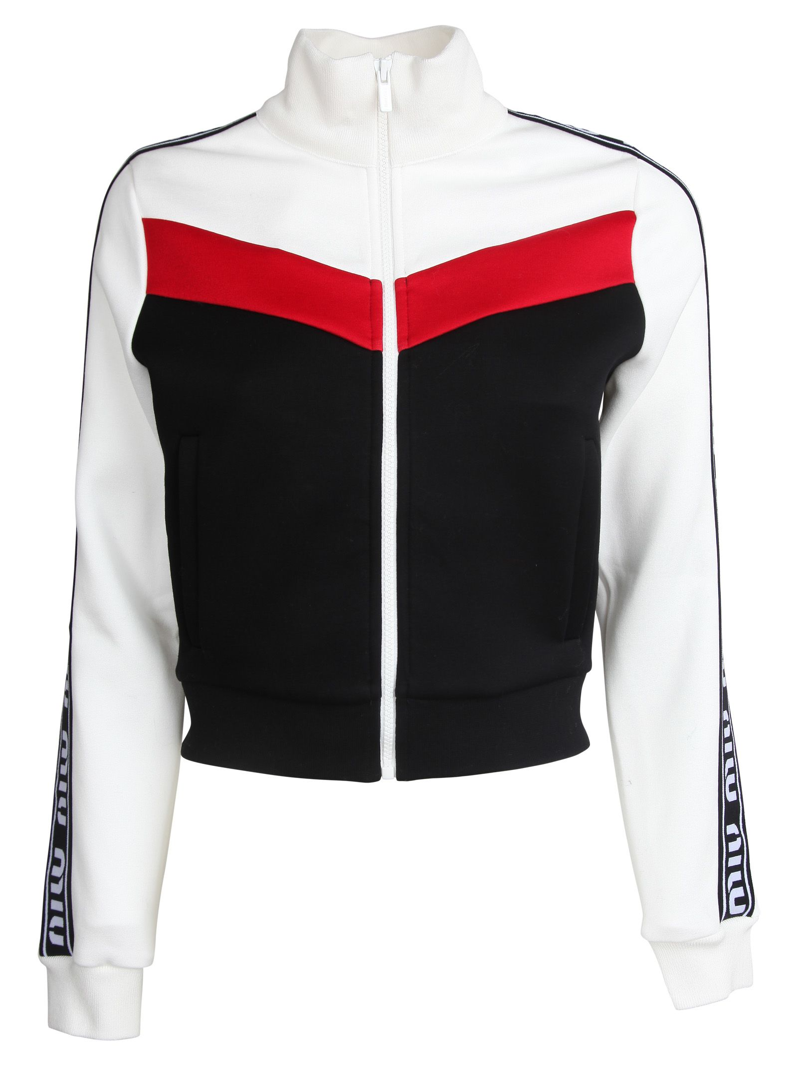 Miu Miu Logo Printed Jacket