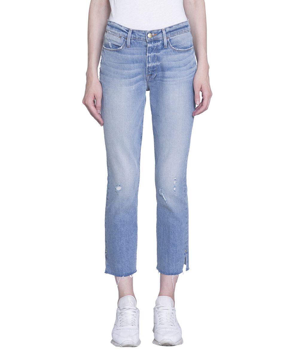 Frame Le High Straight Denim Cotton Jeans