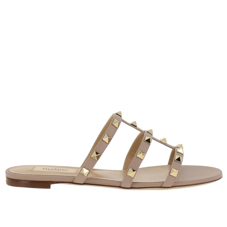 Valentino Garavani Flat Sandals Shoes Women Valentino Garavani