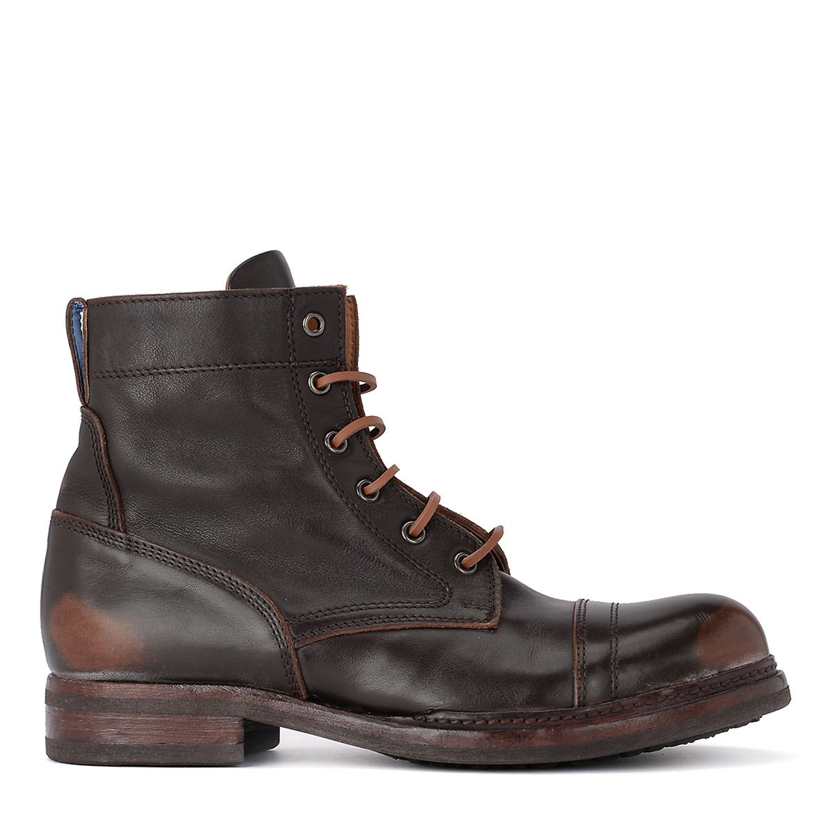 Moma Bowling Old Dark Brown Leather Boot