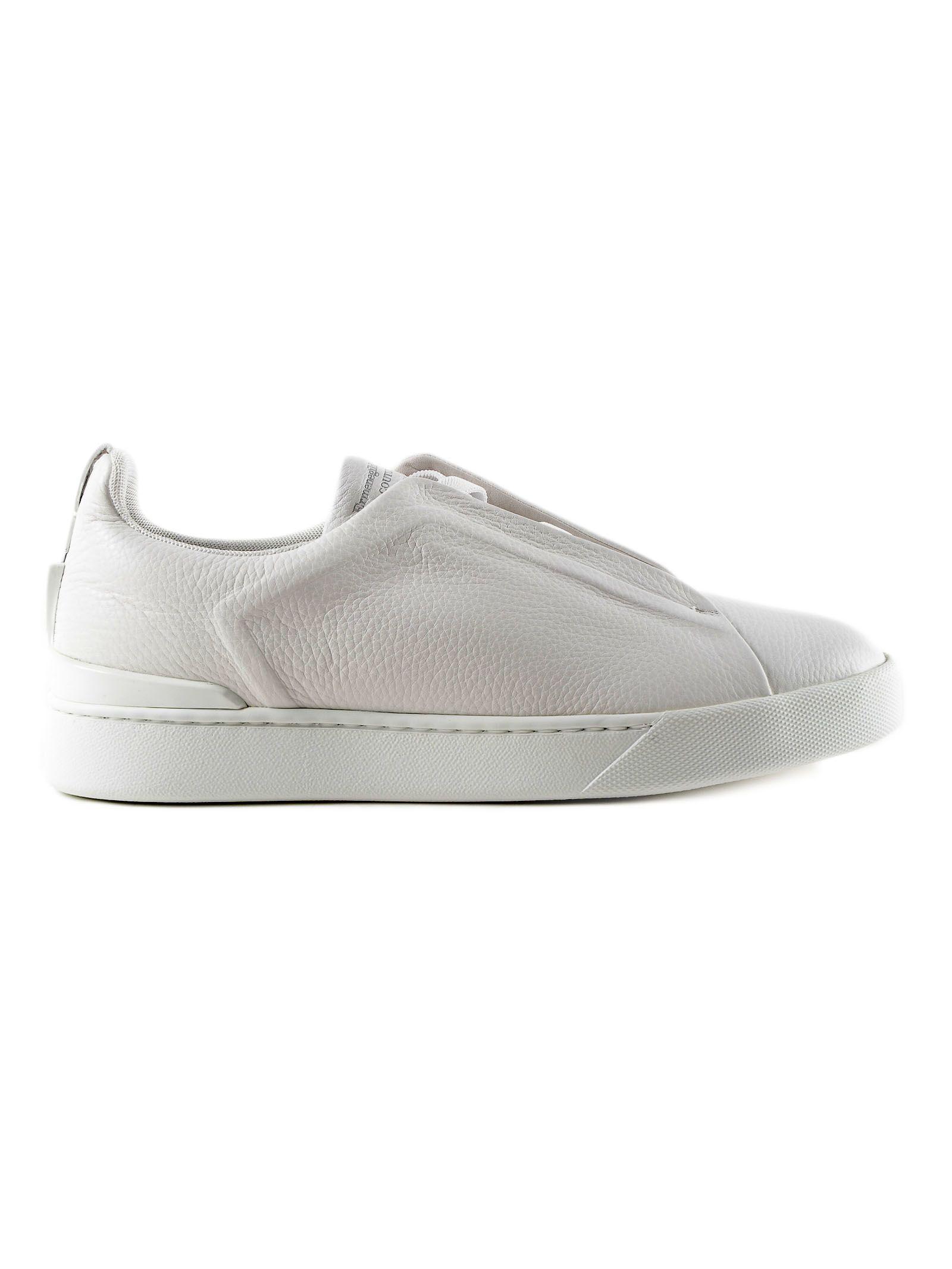 Ermenegildo Zegna Textured Slip-on Sneakers