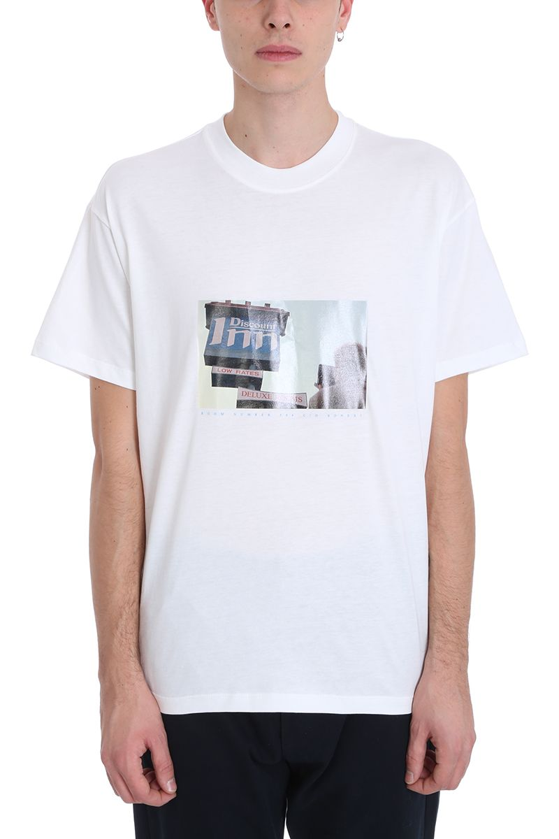 Bonsai White Cotton T-shirt
