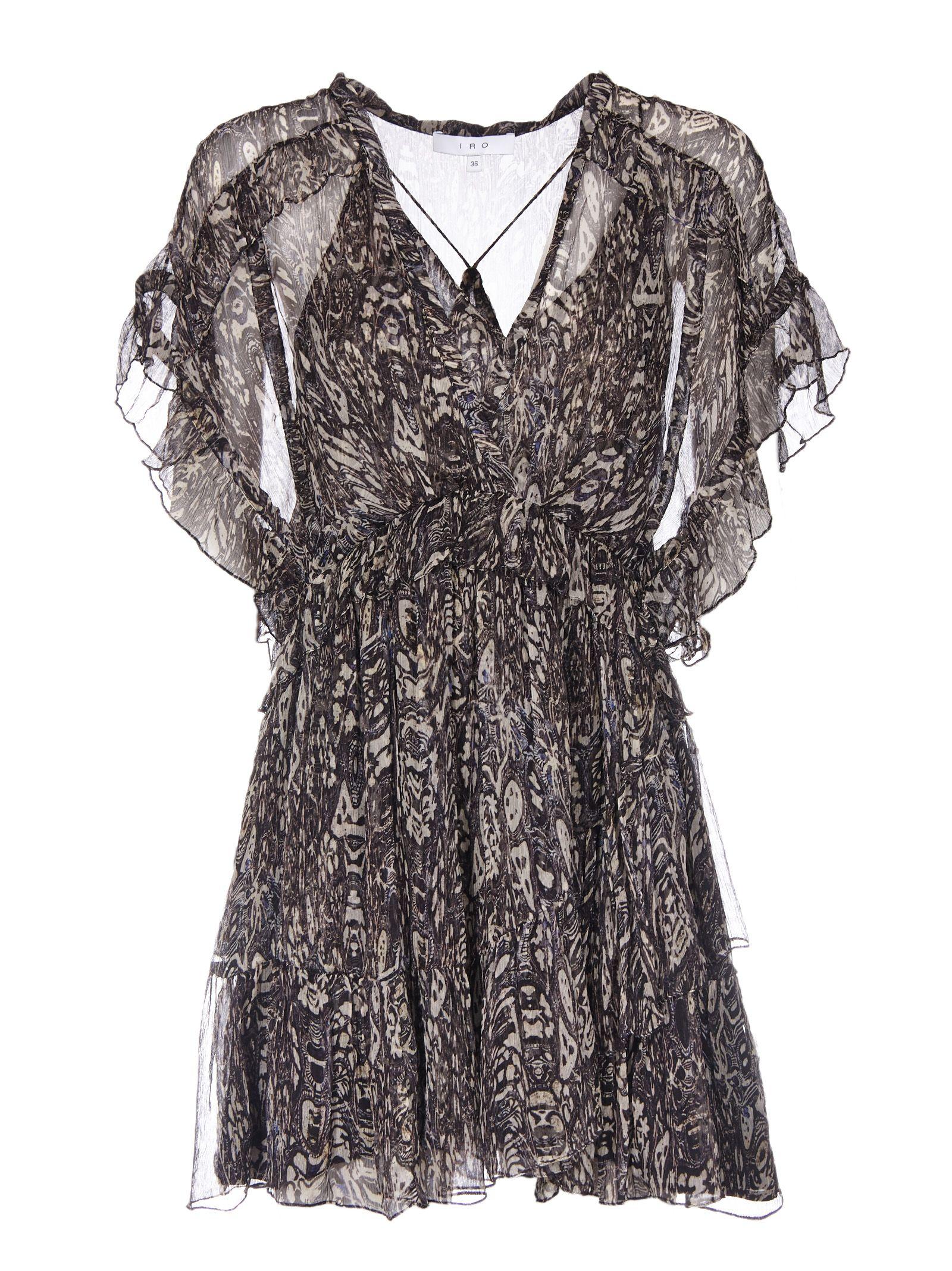 Iro See-Through Ruffled Dress