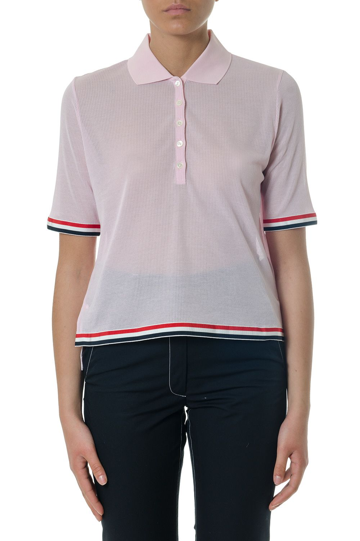 Thom Browne Pink Cotton Polo Shirt