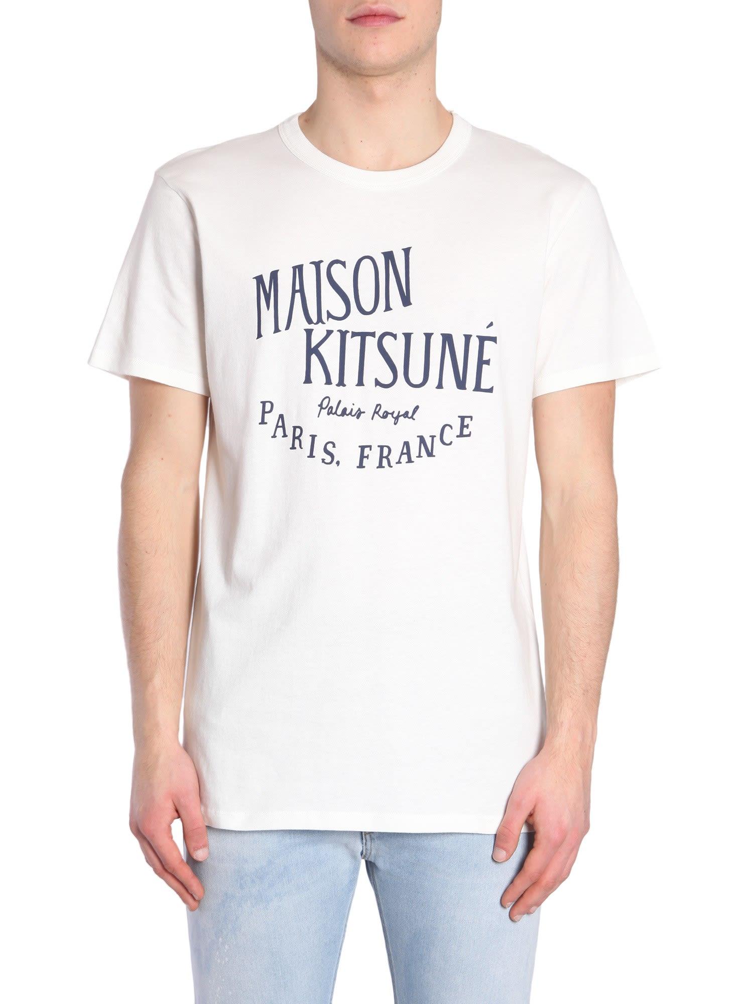Maison Kitsuné Round Collar T-shirt