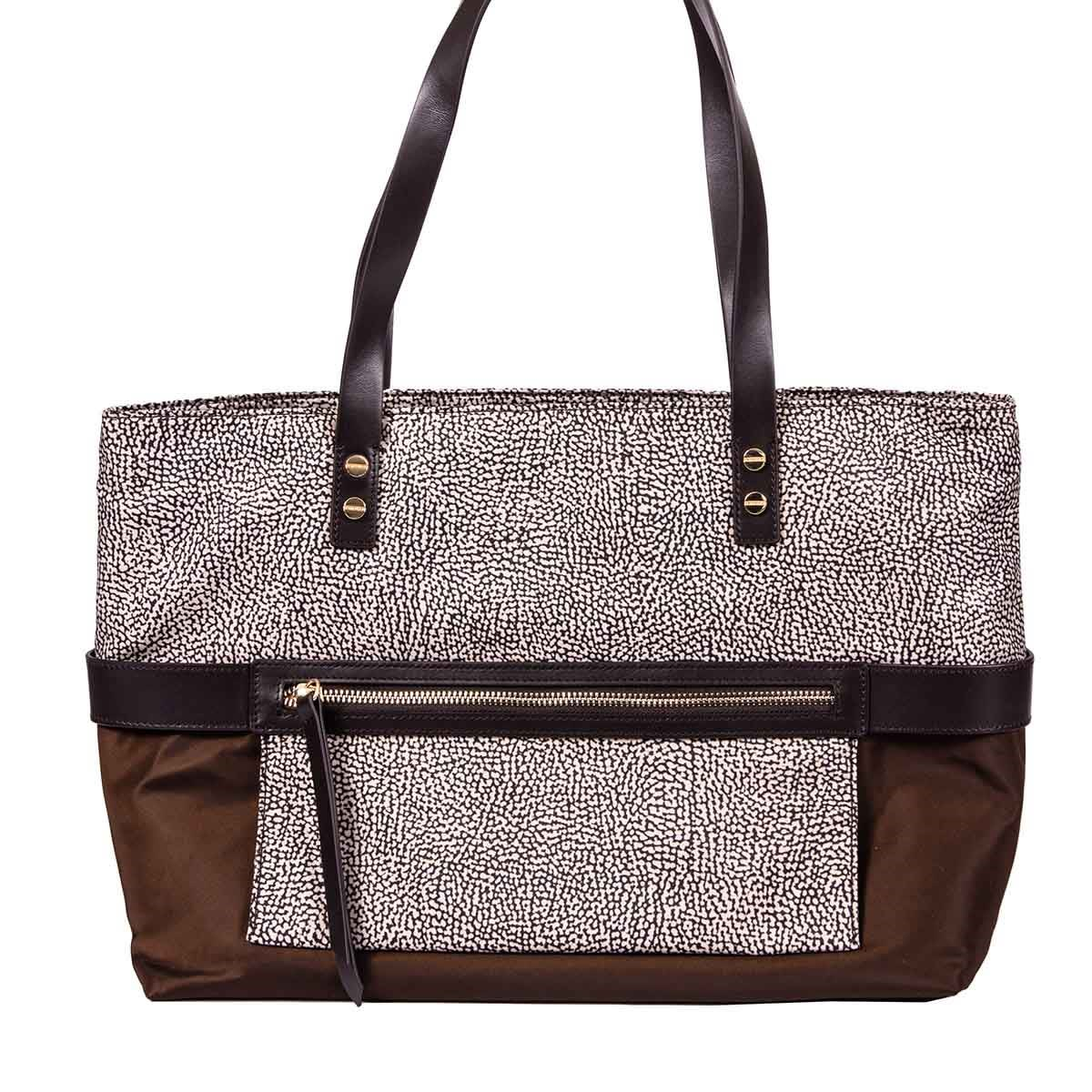 Borbonese Medium Horizontal Tote Bag