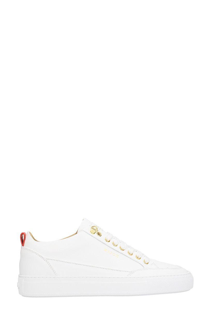 Mason Garments White Leather Sneakers