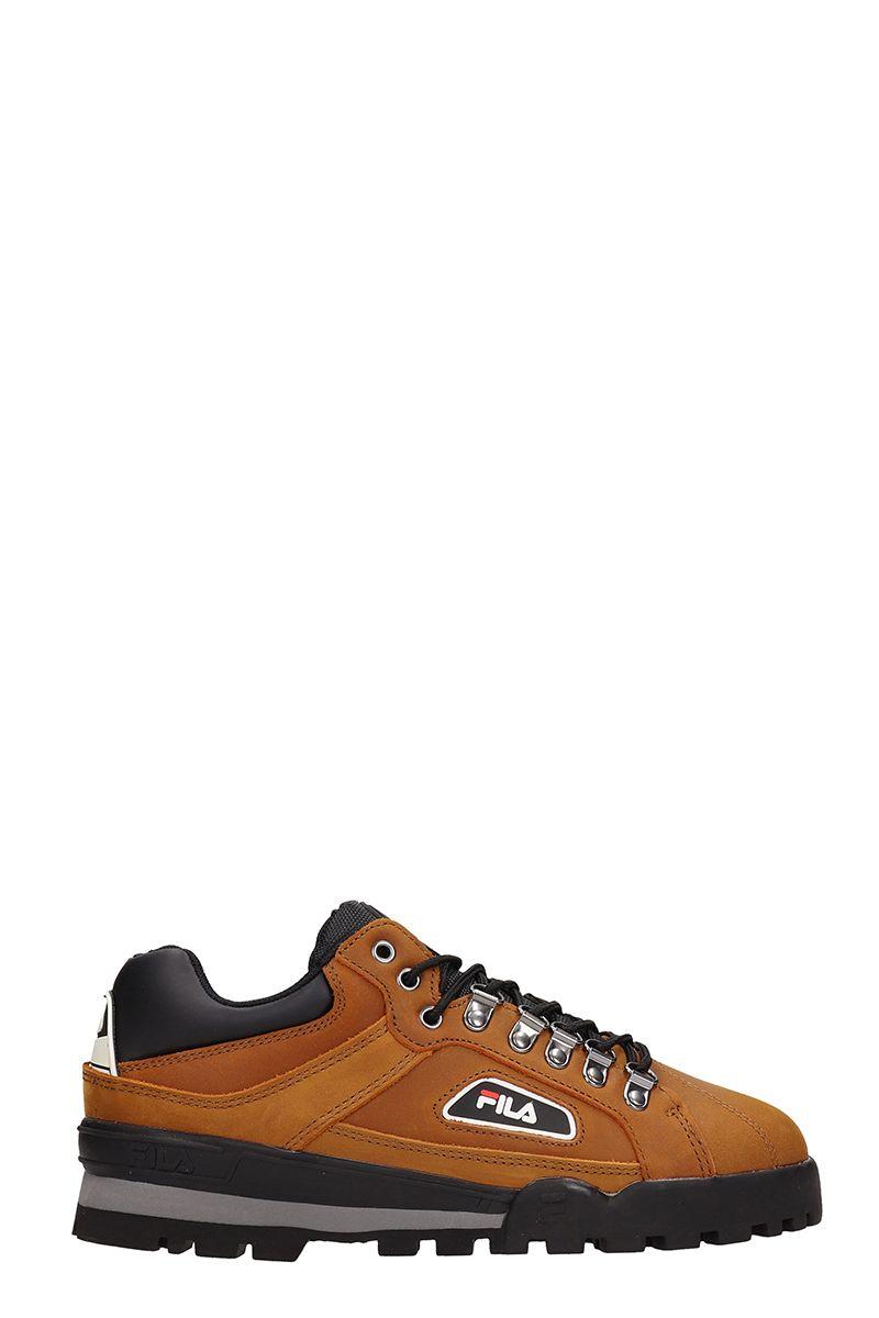 Fila Brown Leather Trailblazer Sneakers