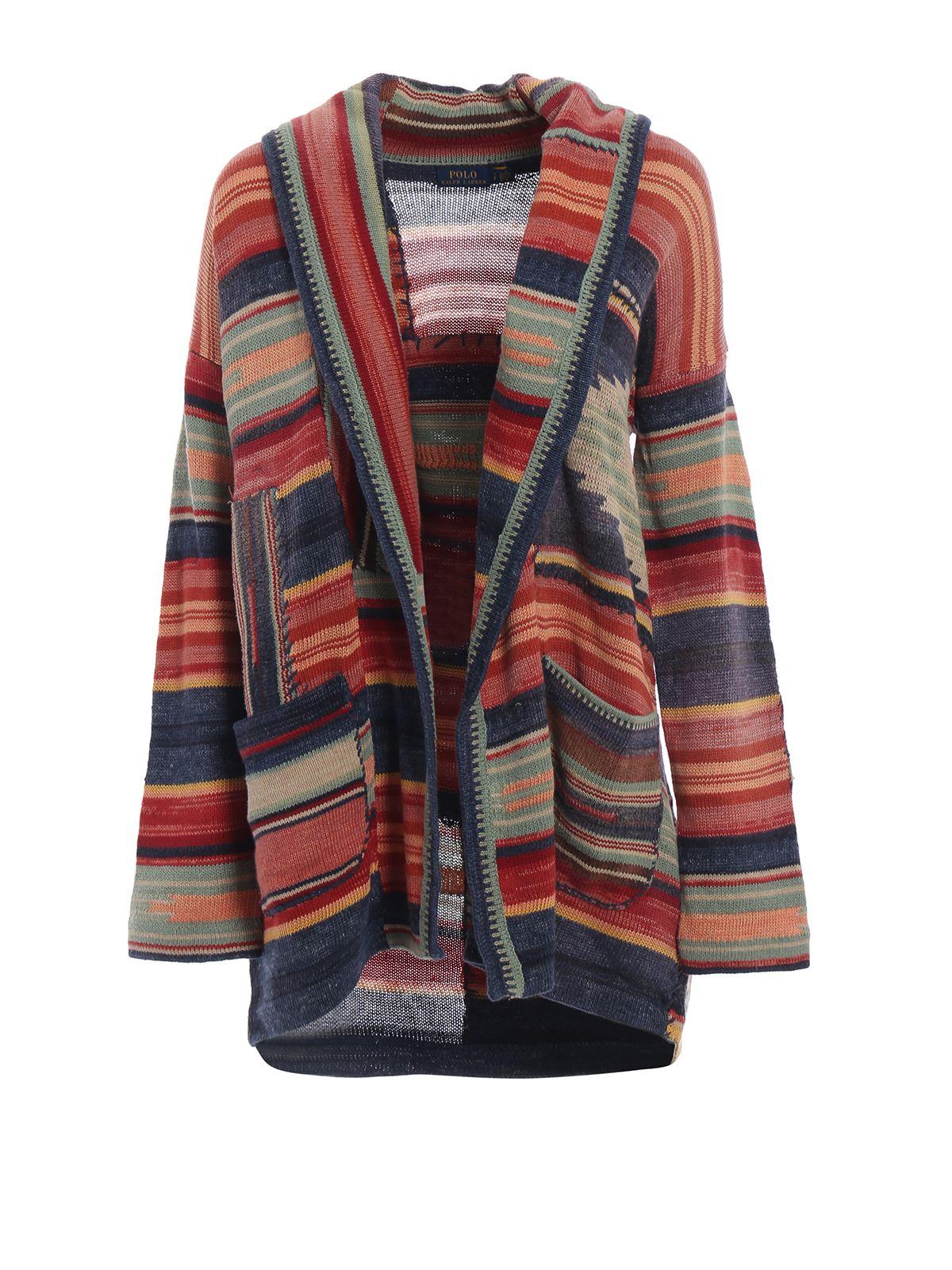 Polo Ralph Lauren Multicolour Linen Cotton Silk Cardigan