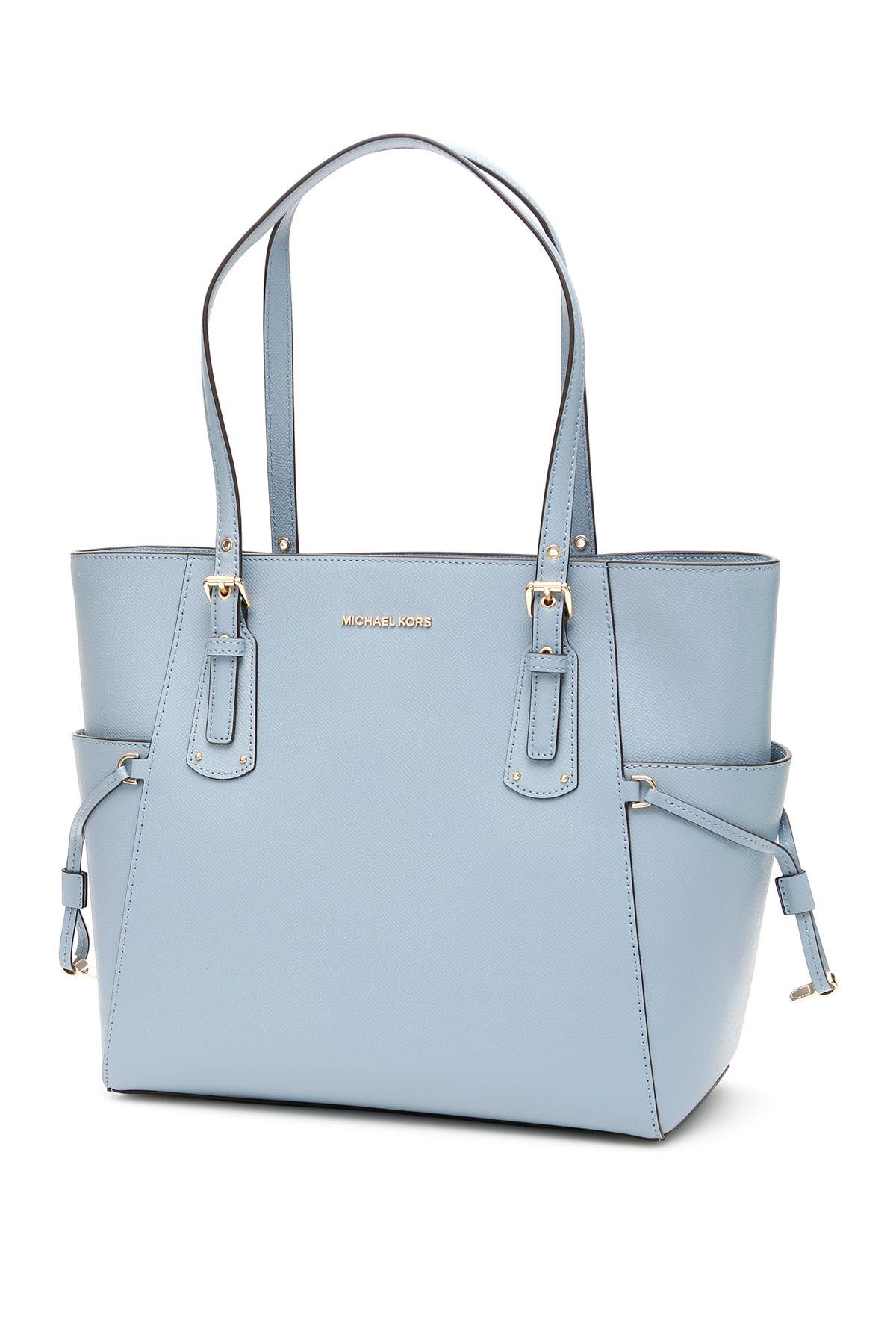 e2fccd7d6d359a MICHAEL Michael Kors Voyager Leather Tote Bag - PALE BLUE (Light blue) ...