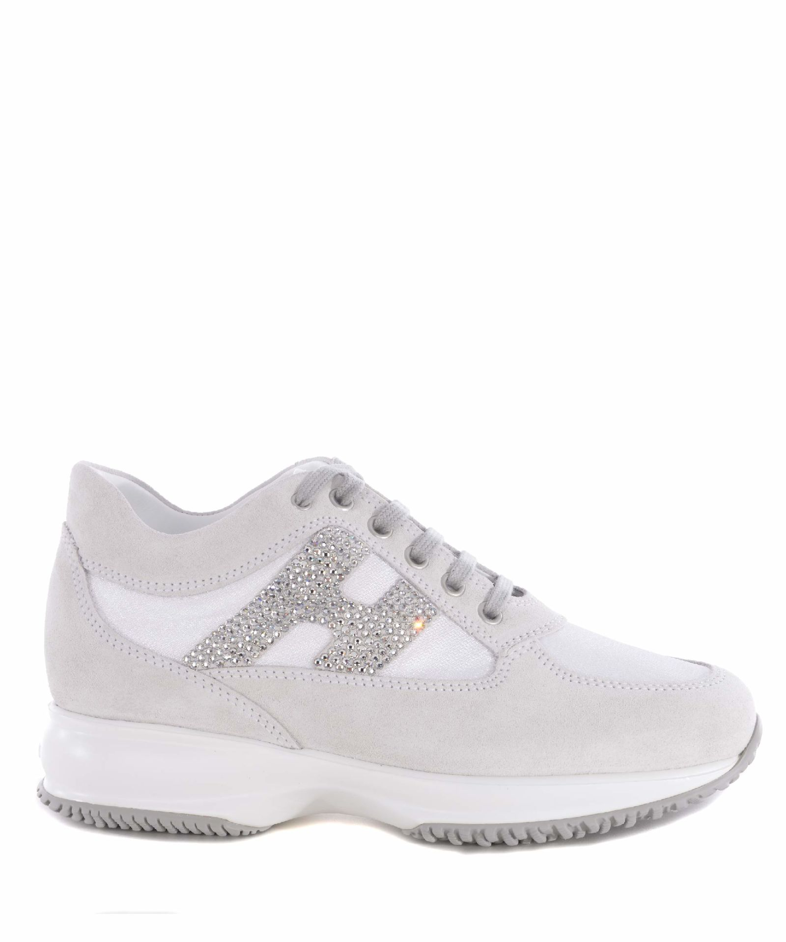 1b2045a4be Hogan Interactive Strass Sneakers - Bianco/ghiaccio - 10596874 | italist