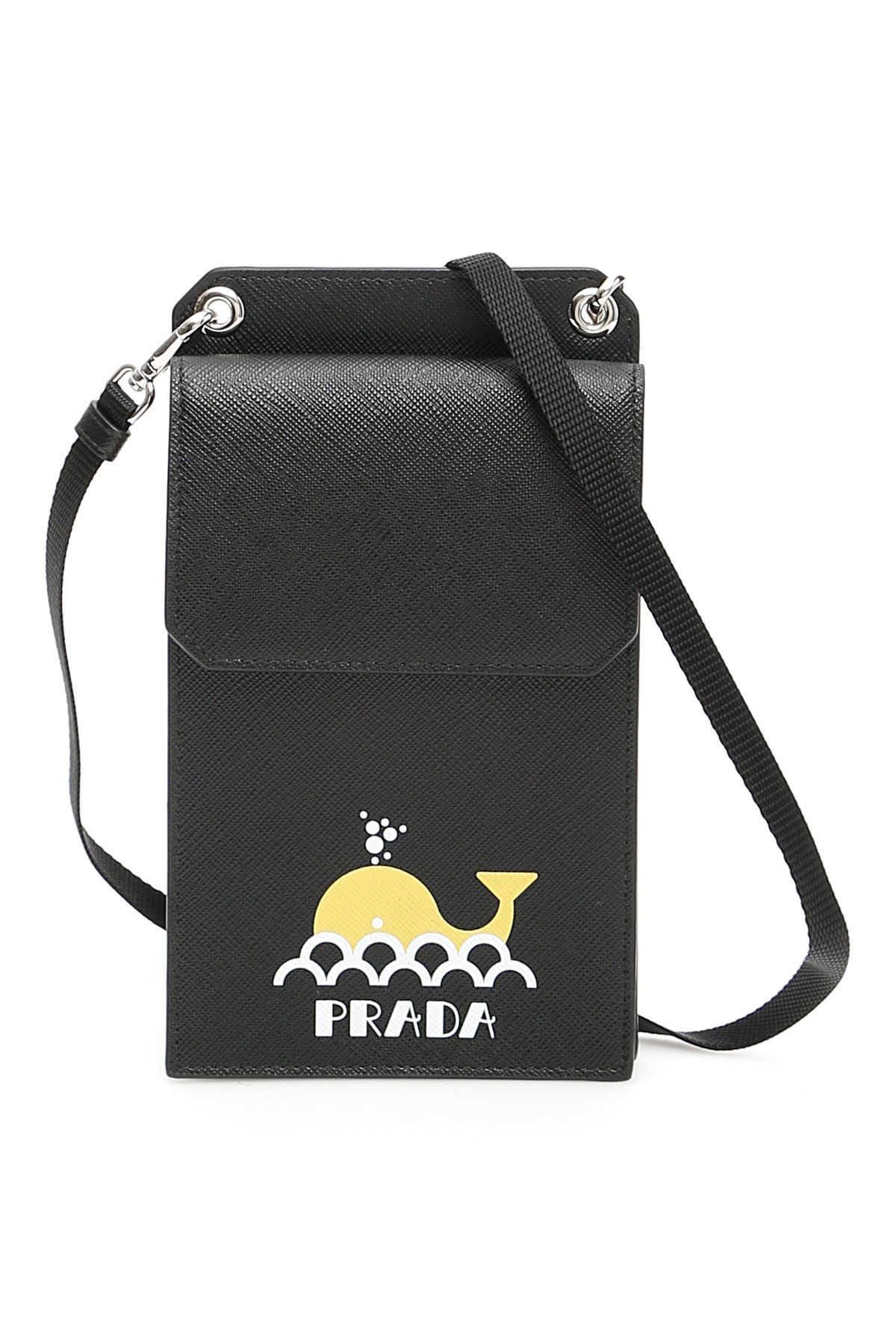 976cf1c162e325 Prada Prada Saffiano Iphone Case - NERO GIALLO (Black) - 10800244 ...