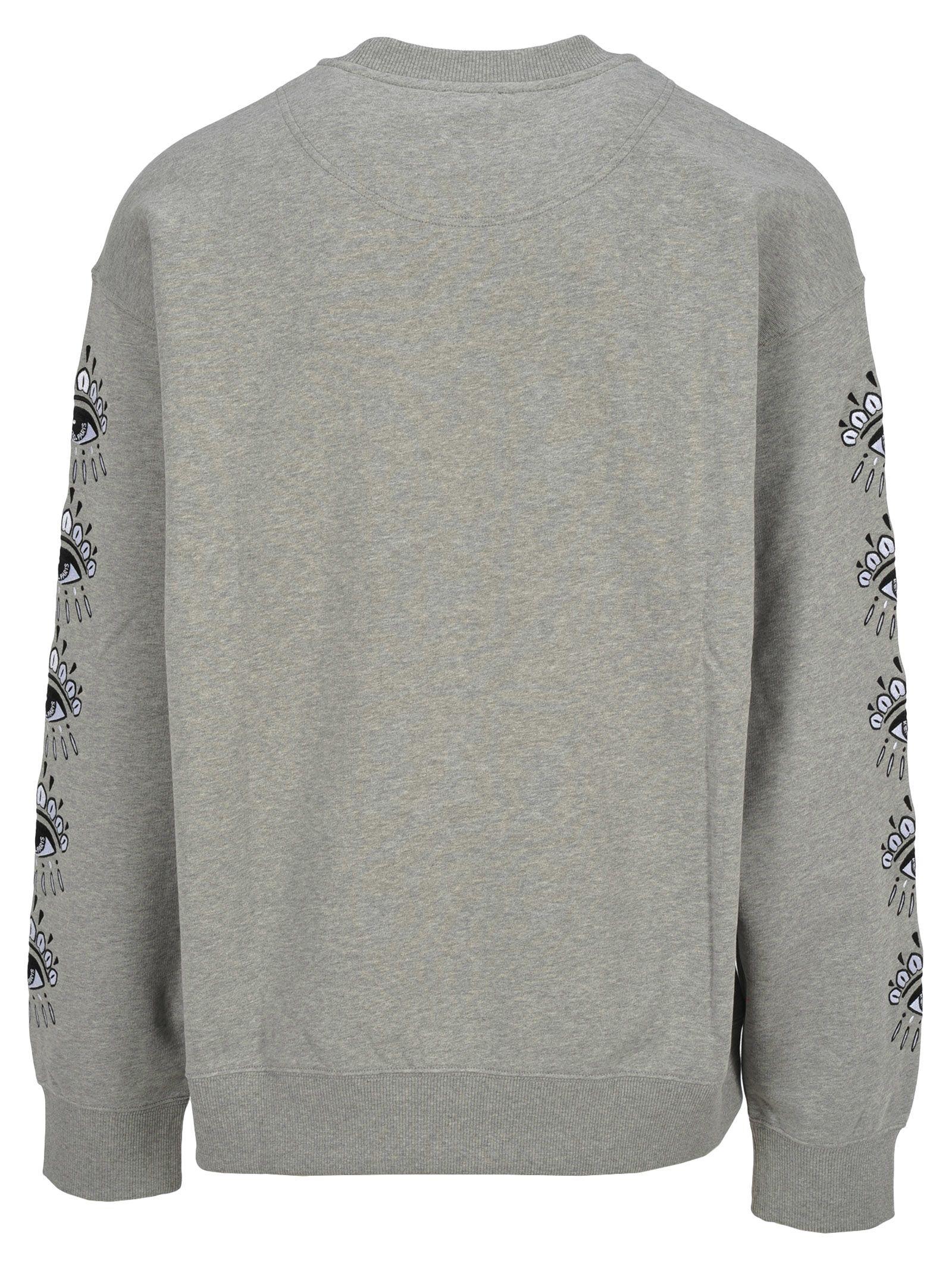 80701c6a8 Kenzo Kenzo Kenzo Embroidered Eye Sweatshirt - PEARL GREY - 10814701 ...