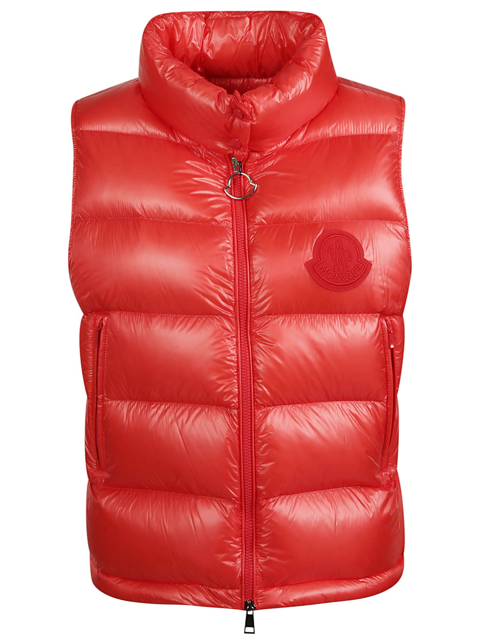 a430b13061d0 Moncler Moncler Logo Patched Padded Gilet - Red - 10847511