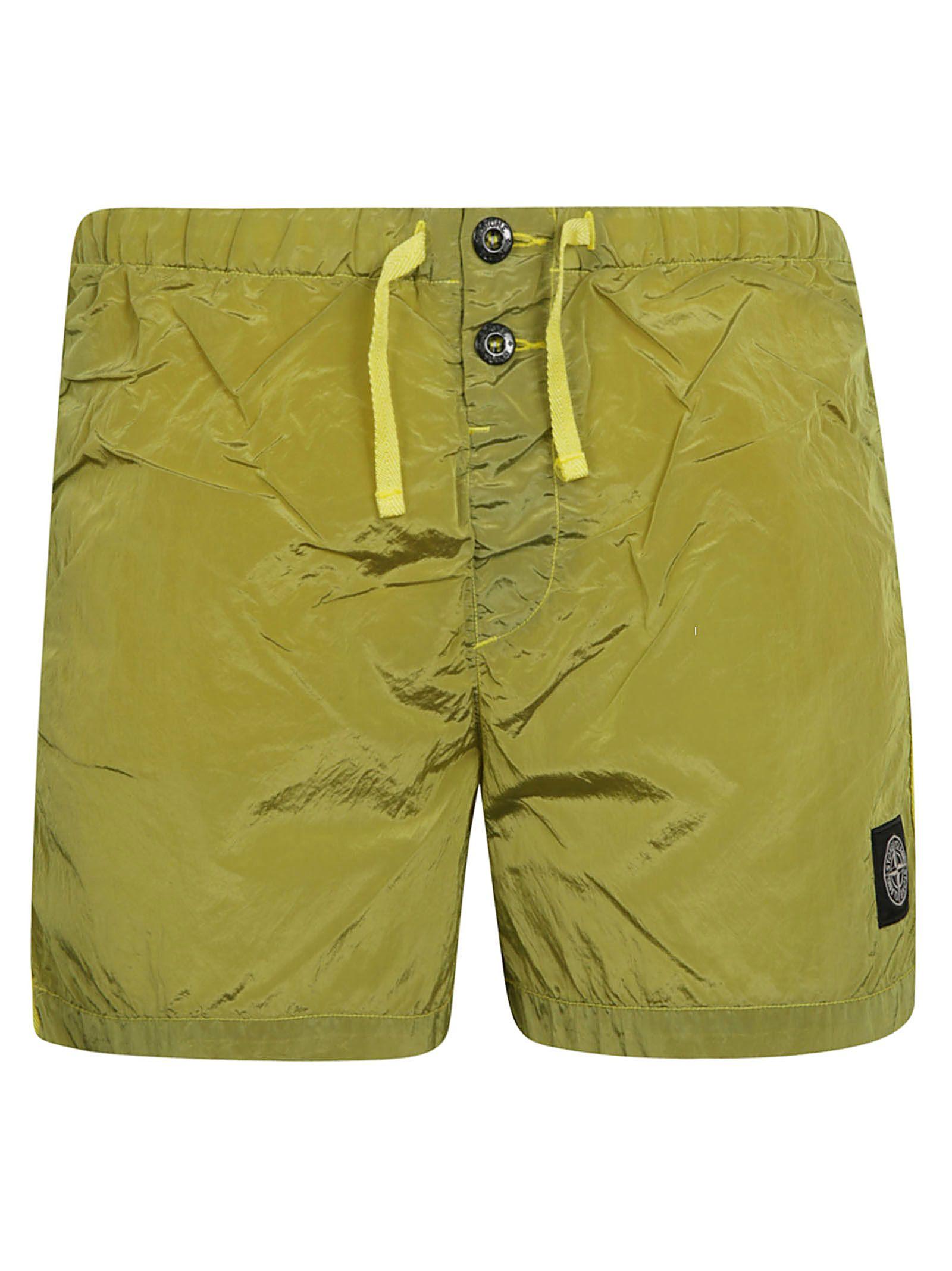 d58fa932de Stone Island Stone Island Drawstring Swim Shorts - Yellow - 10837952 ...