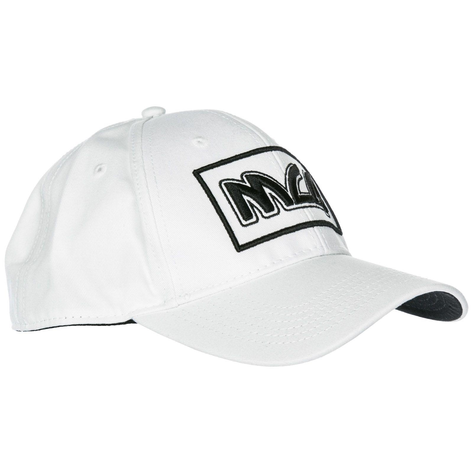 3a109695c9a55 ... McQ Alexander McQueen Adjustable Cotton Hat Baseball Cap Metal Logo -  White ...