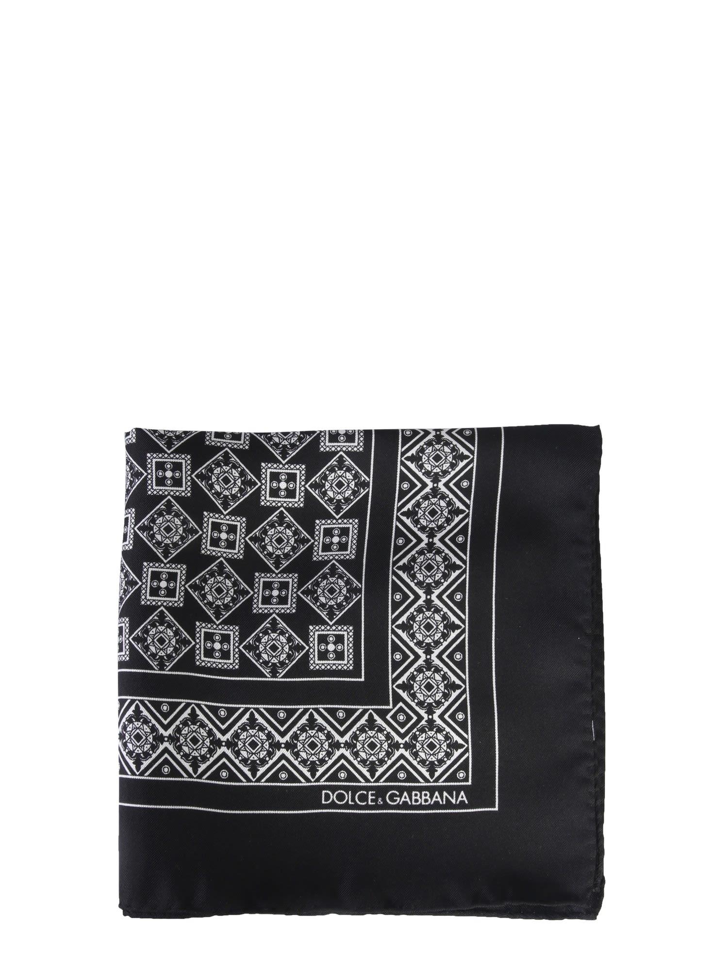 1bbc3524 Dolce & Gabbana Dolce & Gabbana Silk Scarf - NERO - 10970549 | italist