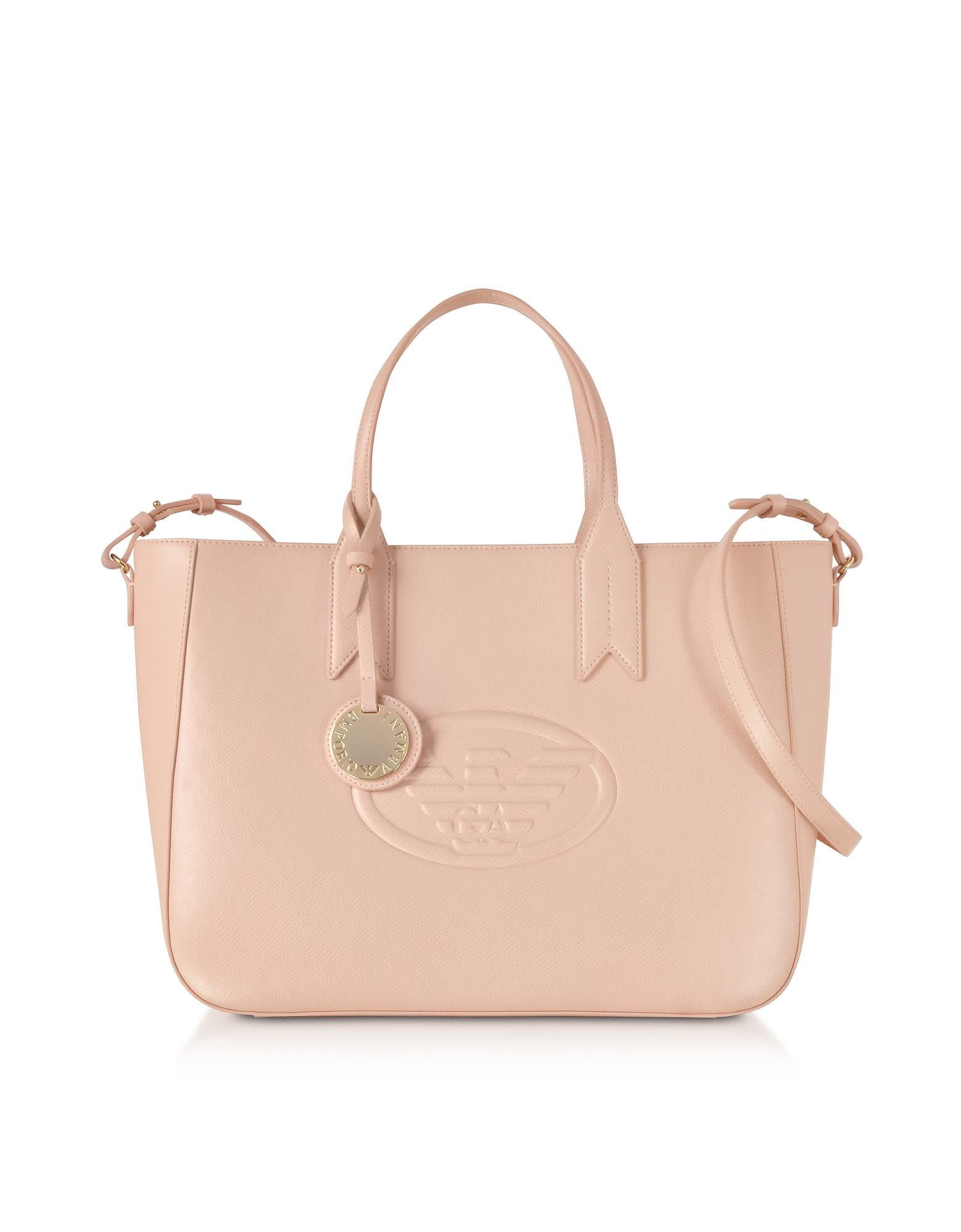 ed7cb4ec6526 Emporio Armani Emporio Armani Medium Embossed Eco Leather Tote Bag ...